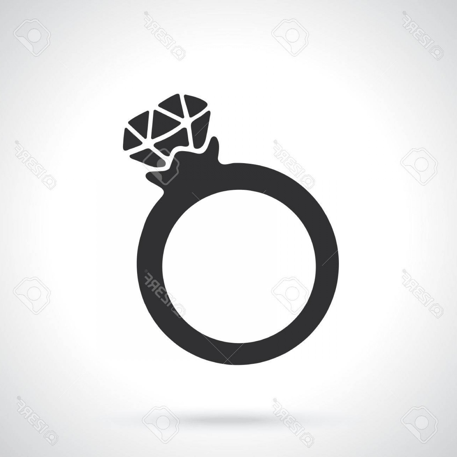 Hand With Ring Silhouette Vector: Photostock Vector Vector Illustration Silhouette Of Ring With A Diamond Template Or Pattern Decoration For Greeting Ca