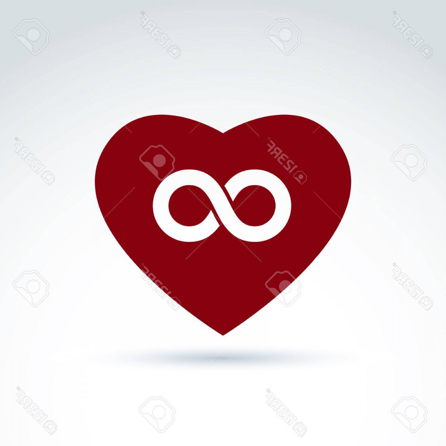 Vector Infinity Symbol Hearts: Photostock Vector Vector Infinity Icon Eternal Life Idea Illustration Of An Eternity Symbol Placed On A Red Heart Love
