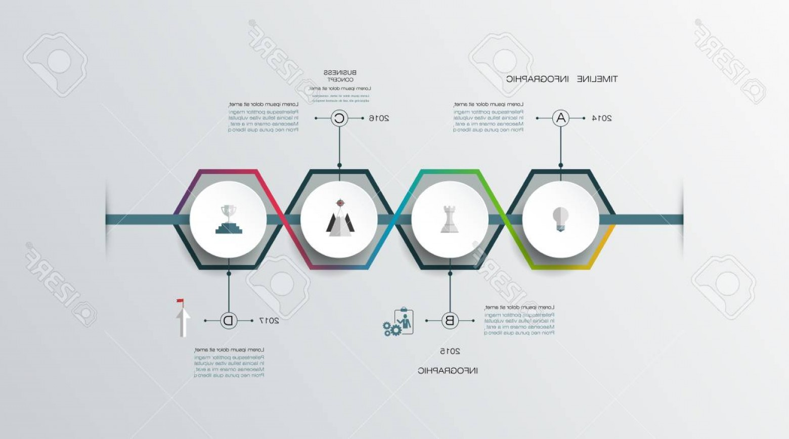 Vector 3D 2014: Photostock Vector Vector Infographics Timeline Design Template With D Paper Label Integrated Circles For Steps Proc