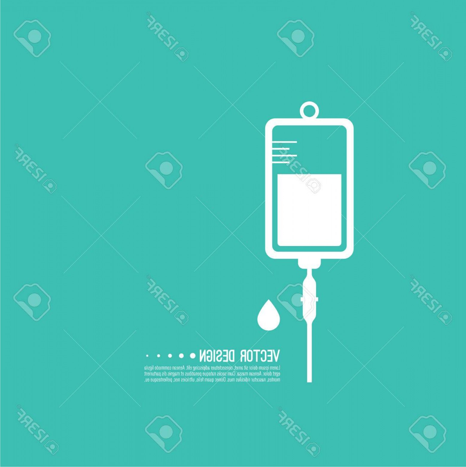 Vector IV: Photostock Vector Vector Iv Bag Icon Saline Symbol On Background Medical Saline Iv The Concept Of Treatment And Therap