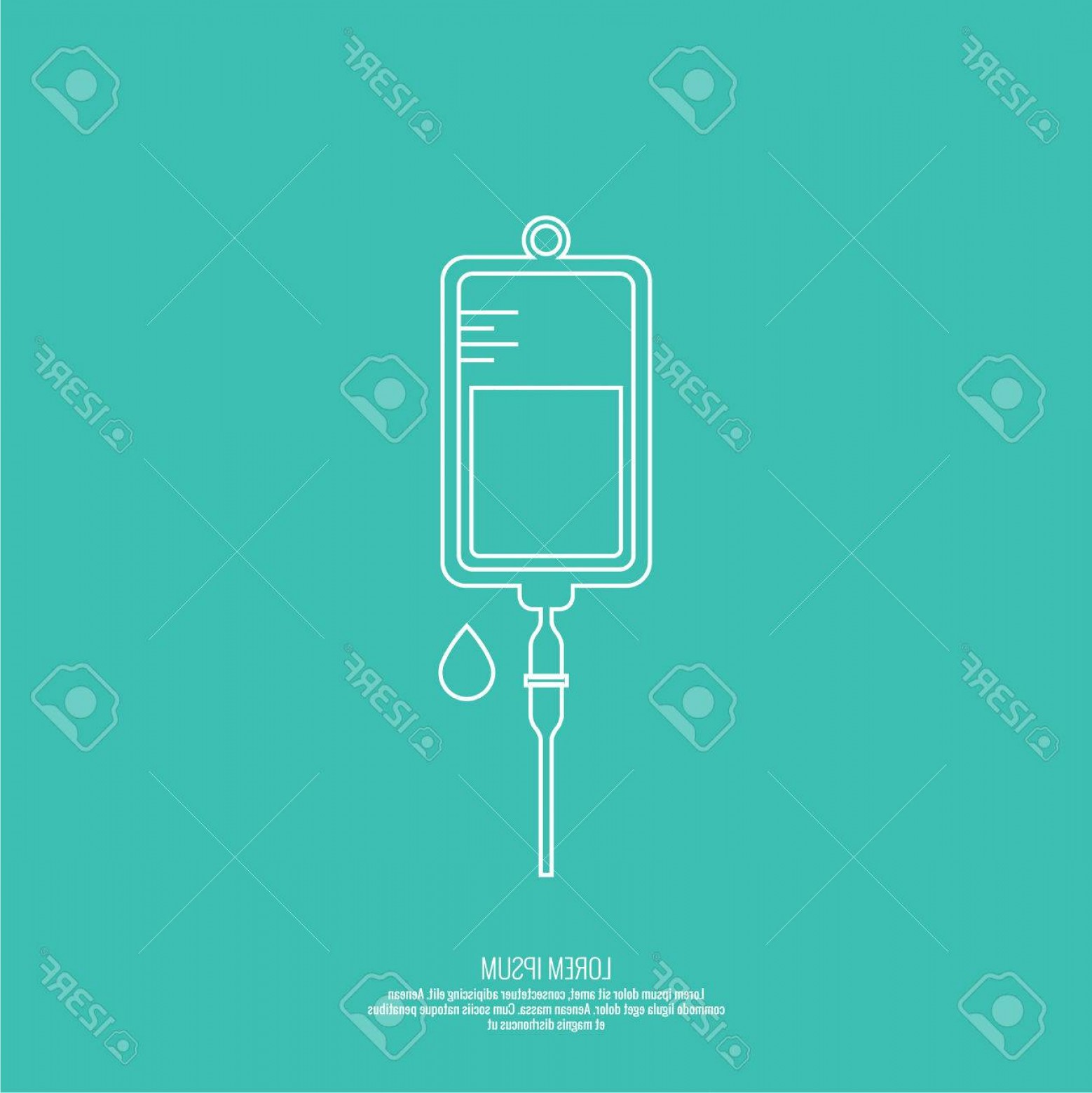 Vector IV: Photostock Vector Vector Iv Bag Icon Saline Symbol On Background The Concept Of Treatment And Therapy Chemotherapy Mod