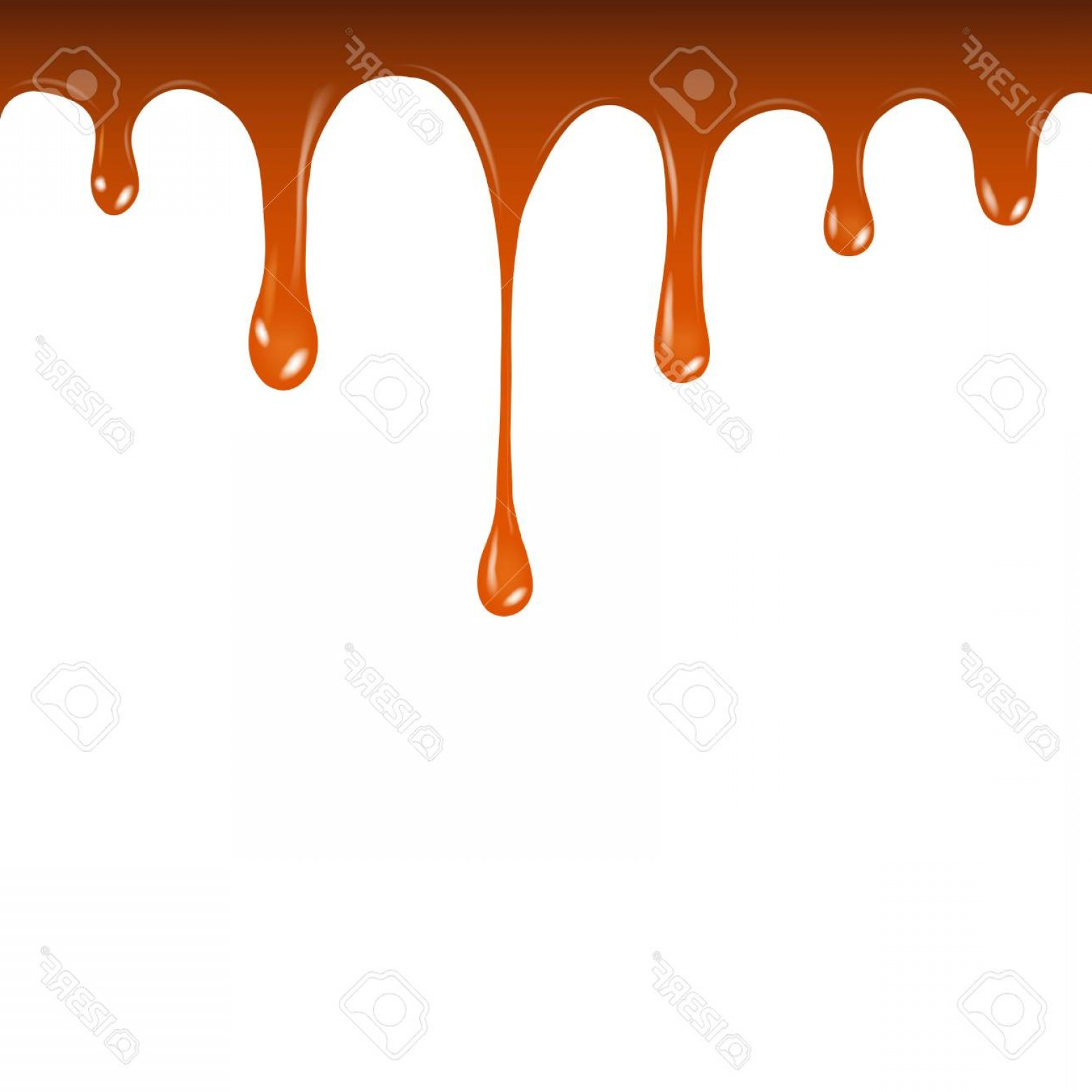 Caramel Drip Vector: Photostock Vector Vector Liquid Caramel Drip Pattern Isolated On A White Background Liquid Caramel Streams
