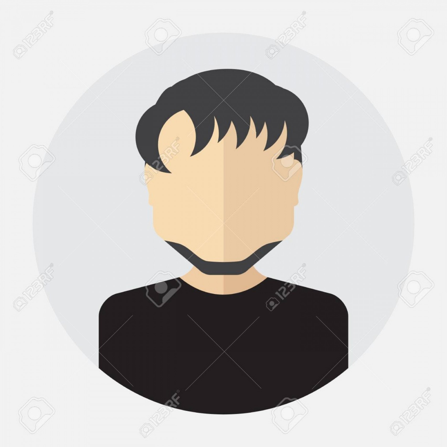 Male Face Icon Vector: Photostock Vector Vector Male Face Avatar Template Pictogram Button Round Trendy Flat Icon With Man For Business Inter