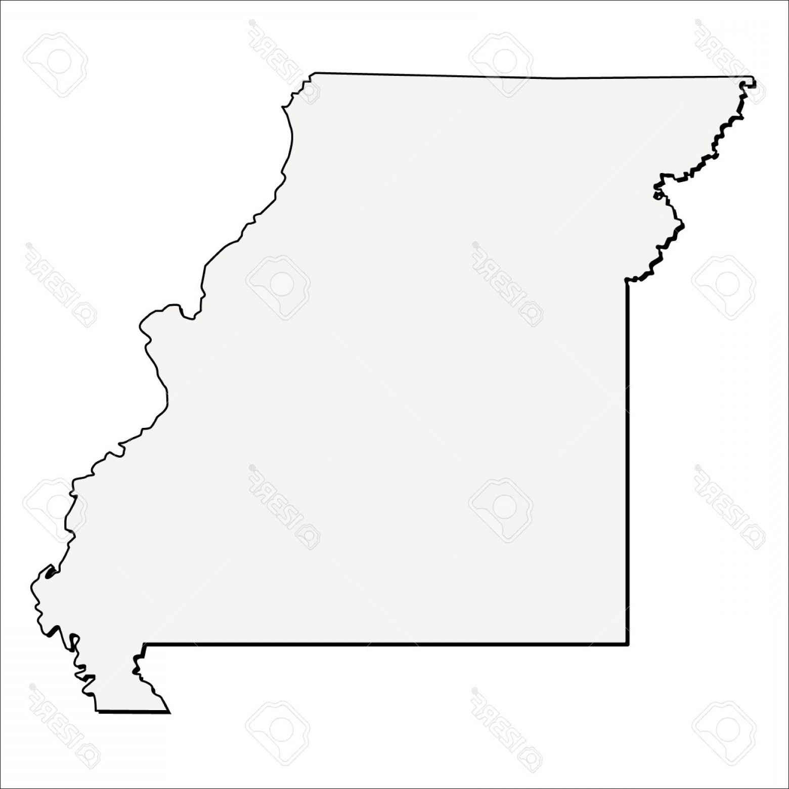 Arizona State Outline Vector: Photostock Vector Vector Missouri State D Outline Map