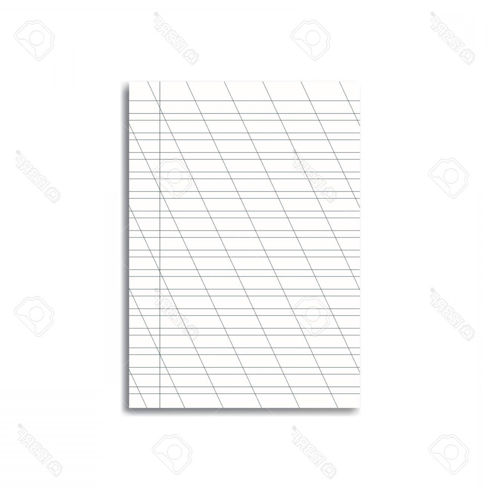 Cursive Lines Vector: Photostock Vector Vector Opened Realistic School Cursive Writing Worksheet With Red Margins And Diagonal Lines Handwri