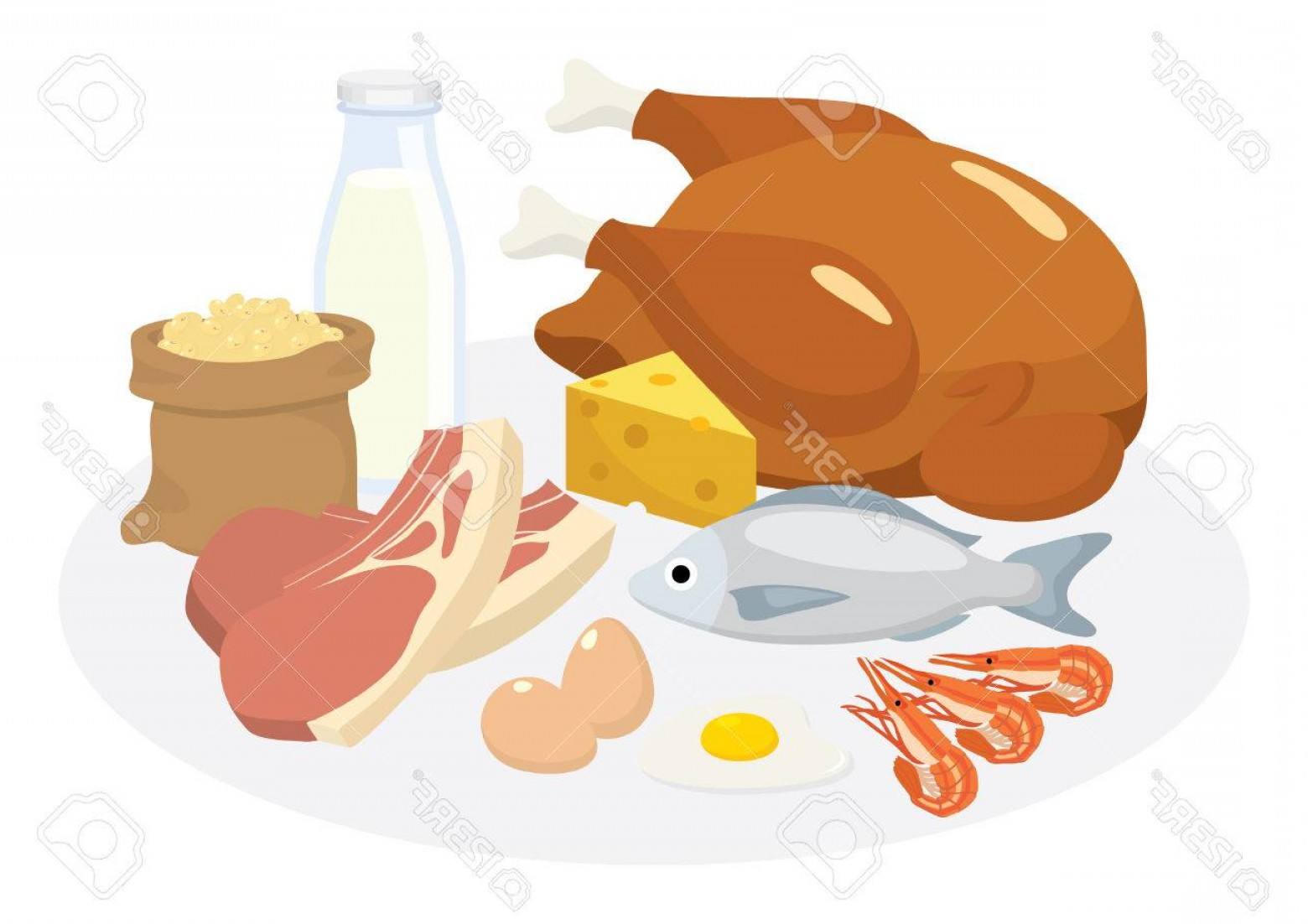 Vector Protein: Photostock Vector Vector Pf Protein Diet Products