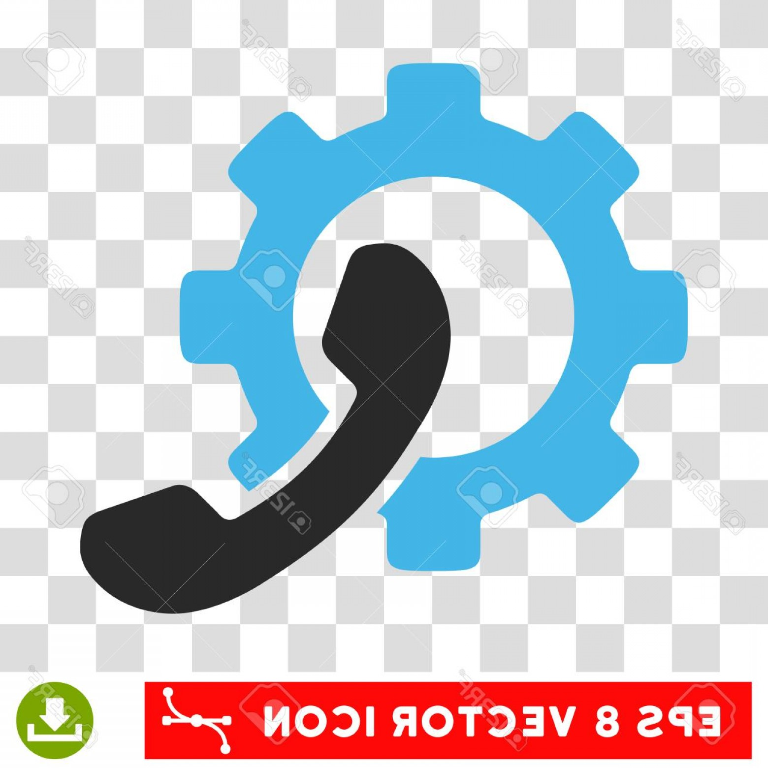 Vector Configuration: Photostock Vector Vector Phone Configuration Gear Eps Vector Pictogram Illustration Style Is Flat Iconic Bicolor Blue