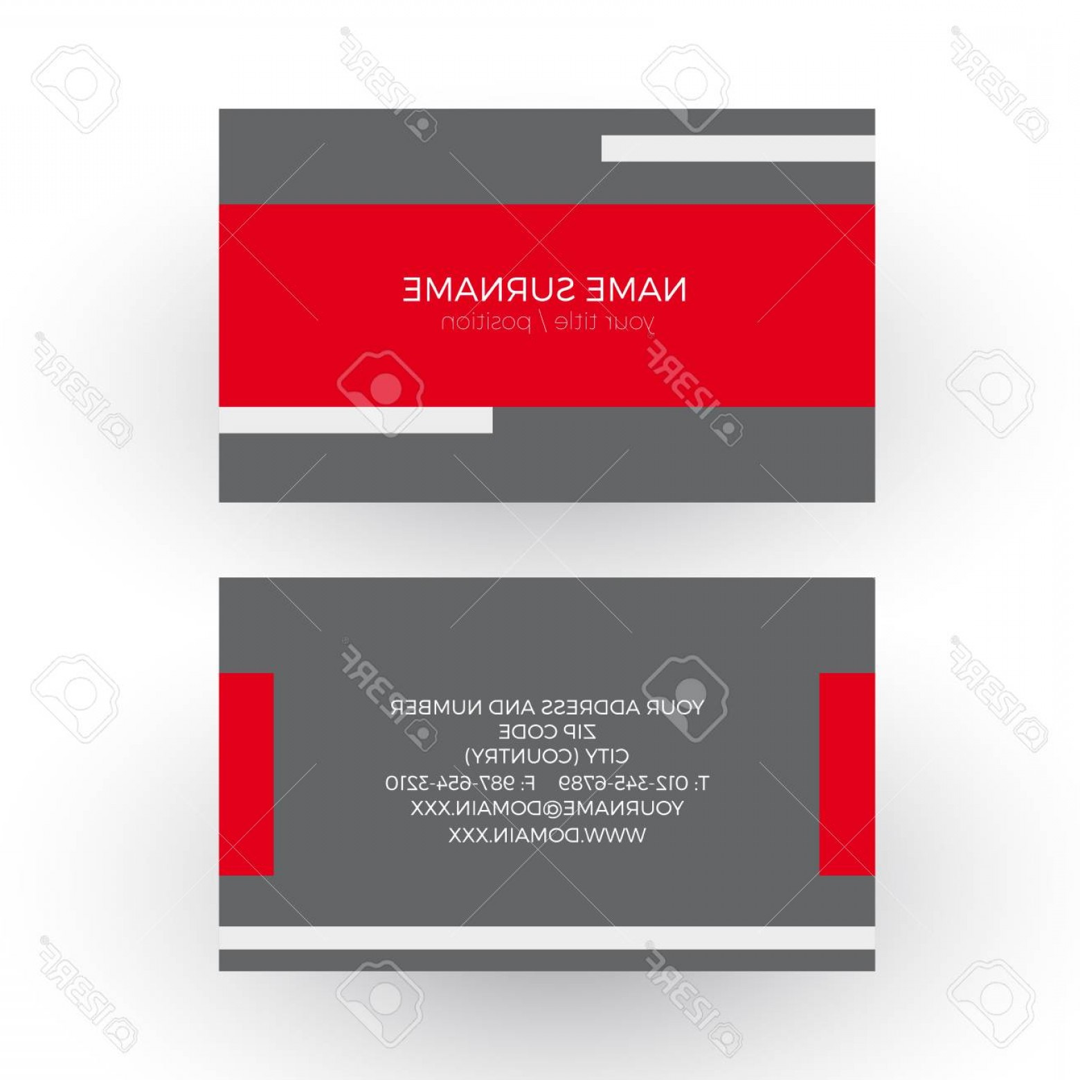 Red Professional Background Vectors: Photostock Vector Vector Red Minimal Geometric Background With Tape Professional And Formal Business Card