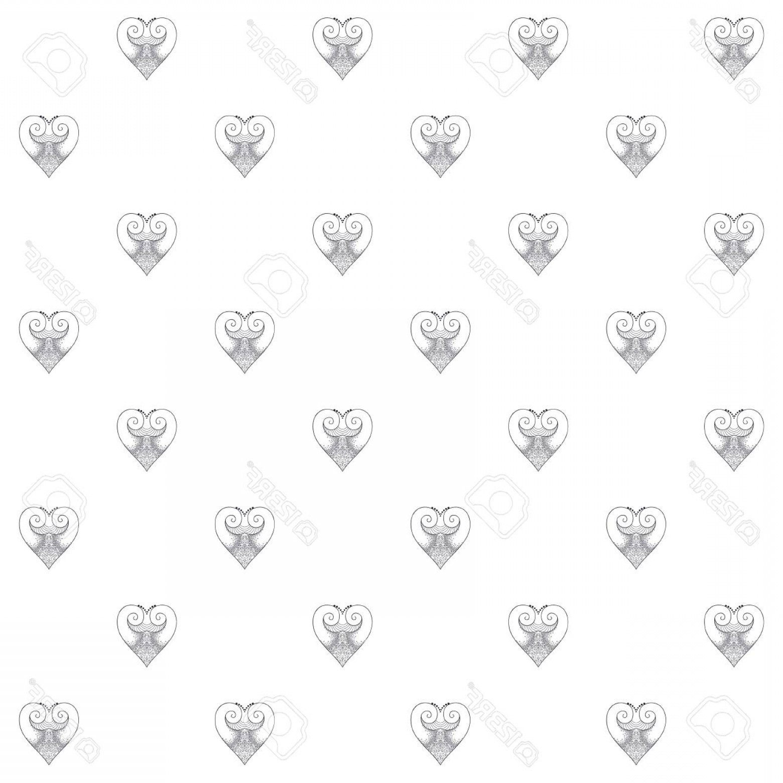 Vector Filigree Heart: Photostock Vector Vector Seamless Background Lacy Filigree Heart Suitable For Congratulations On Valentine S Day Or De