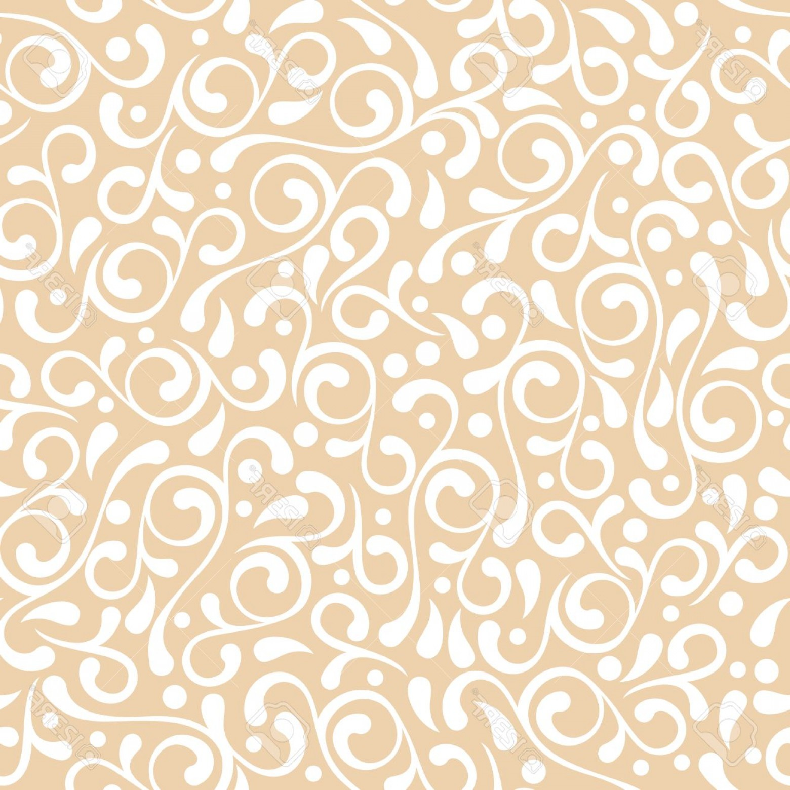 Vector Flourish Backgrounds: Photostock Vector Vector Seamless Pastel Beige Flourish Pattern Vintage Decorative Background Floral Design For Fashio