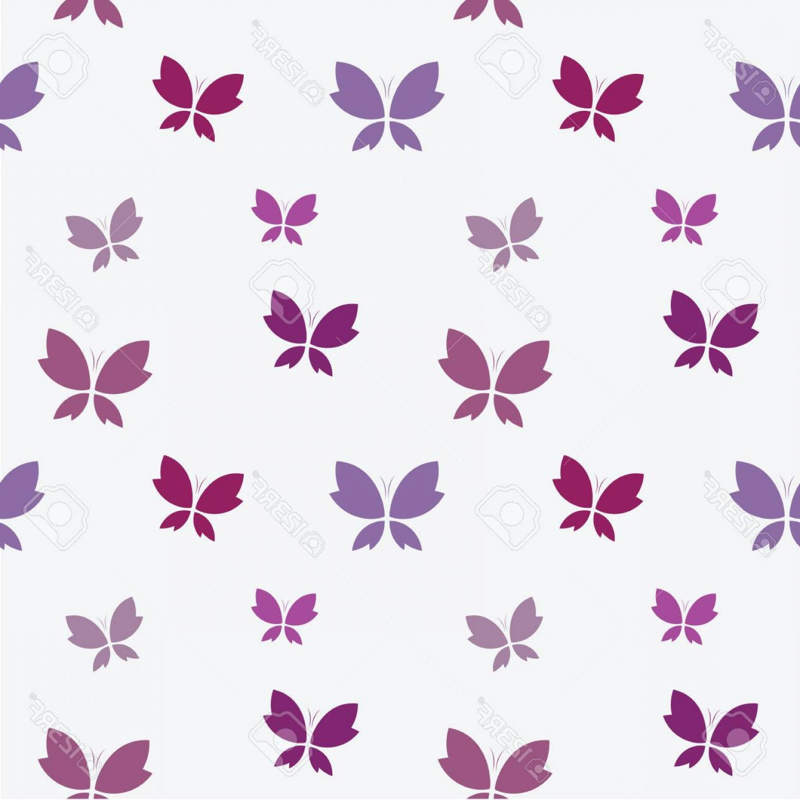 Purple Butterfly Wallpaper Vector: Photostock Vector Vector Seamless Pattern With Purple Butterfly On White Background Wallpaper
