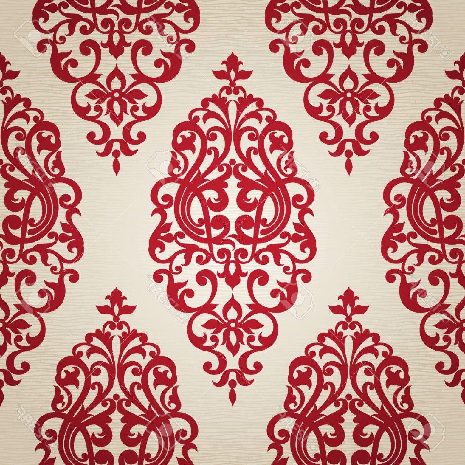 Victorian Motif Vector: Photostock Vector Vector Seamless Pattern With Swirls And Floral Motifs In Retro Style Victorian Background Of Contras