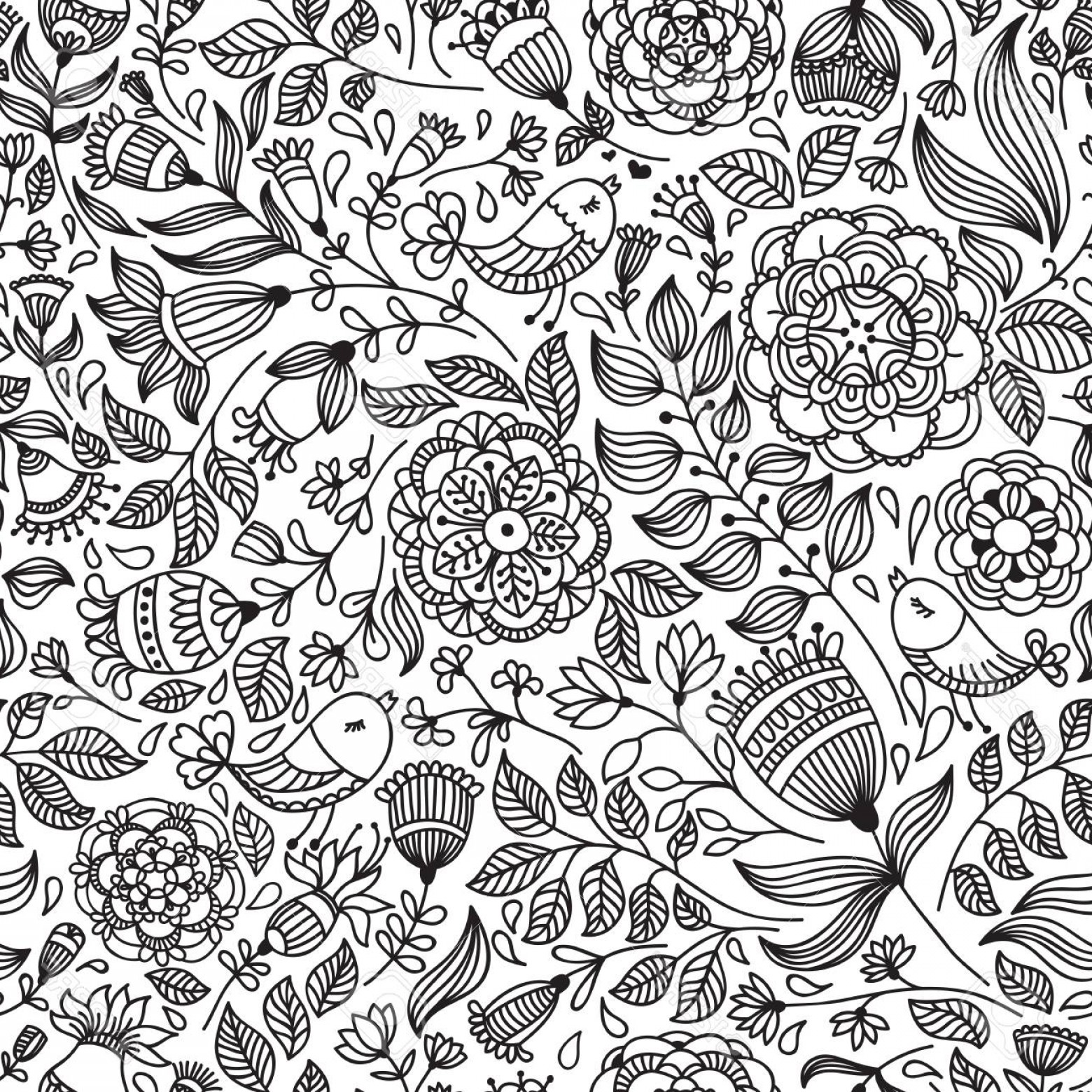 Free Vintage Vector Desktop Wallpaper: Photostock Vector Vector Seamless Vintage Pattern With Flower Can Be Used For Desktop Wallpaper Or Frame For A Wall Ha