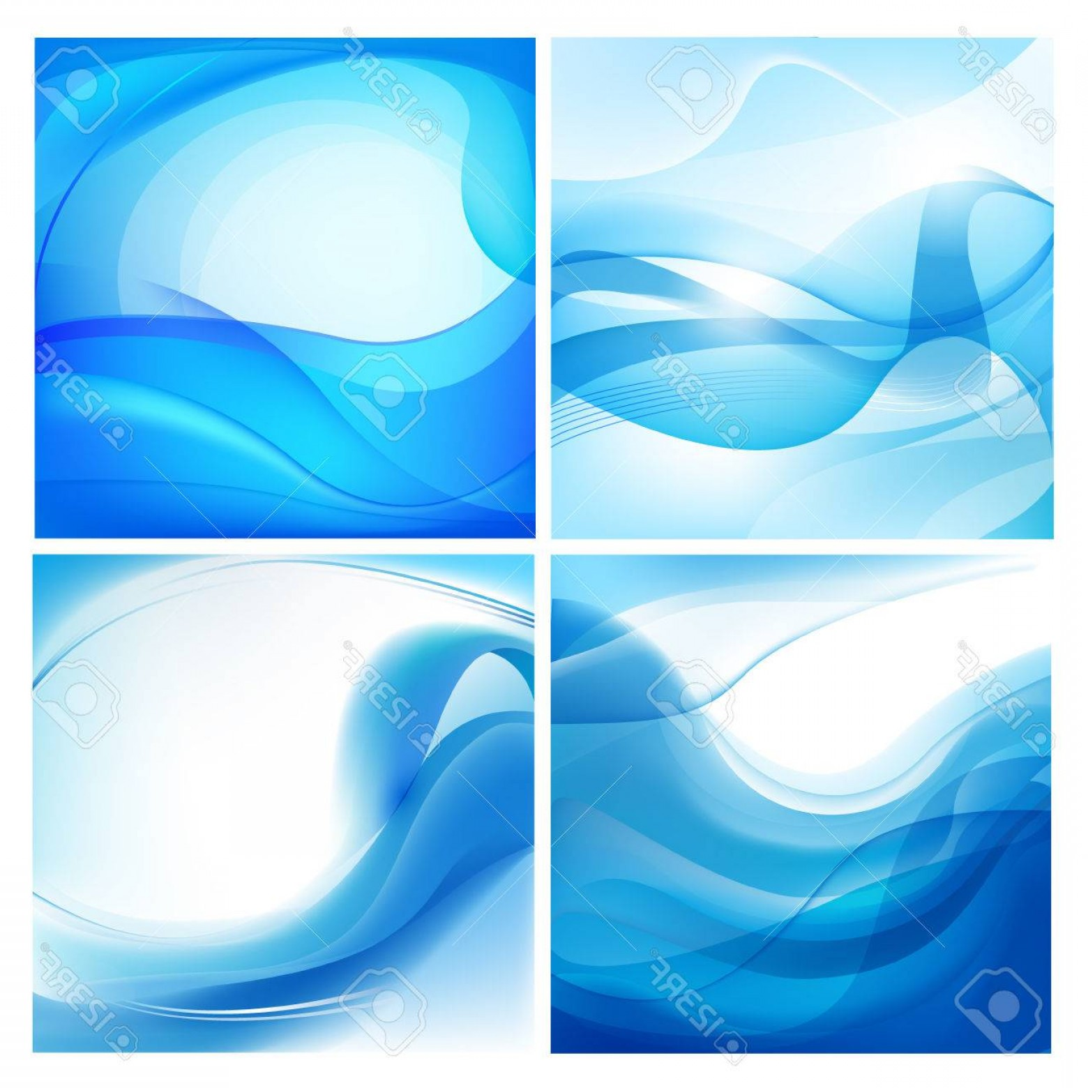 Water Flow Vector: Photostock Vector Vector Set Of Blue Wavy Backgrounds Water Flow Stream Abstract Wallpaper