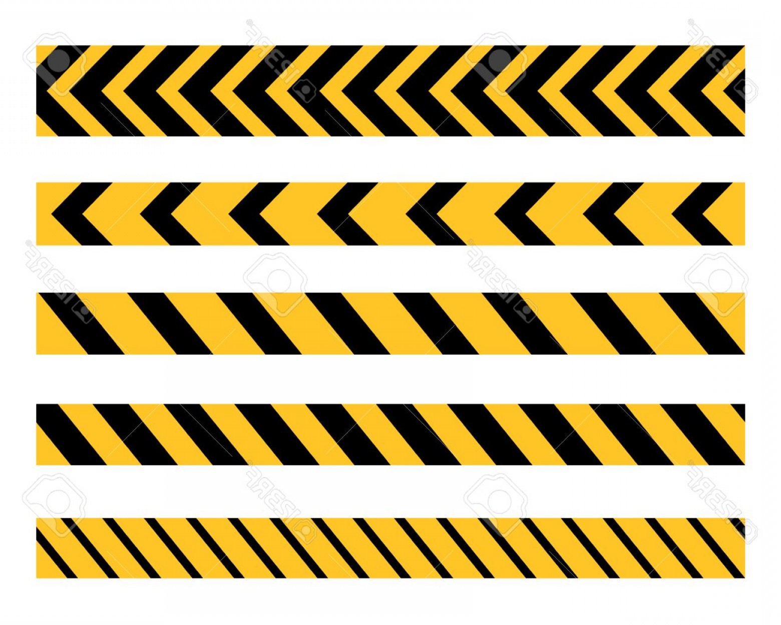 Caution Stripes Vector: Photostock Vector Vector Set Of Danger And Police Tape Lines For Restriction And Dangerous Zones Construction Site