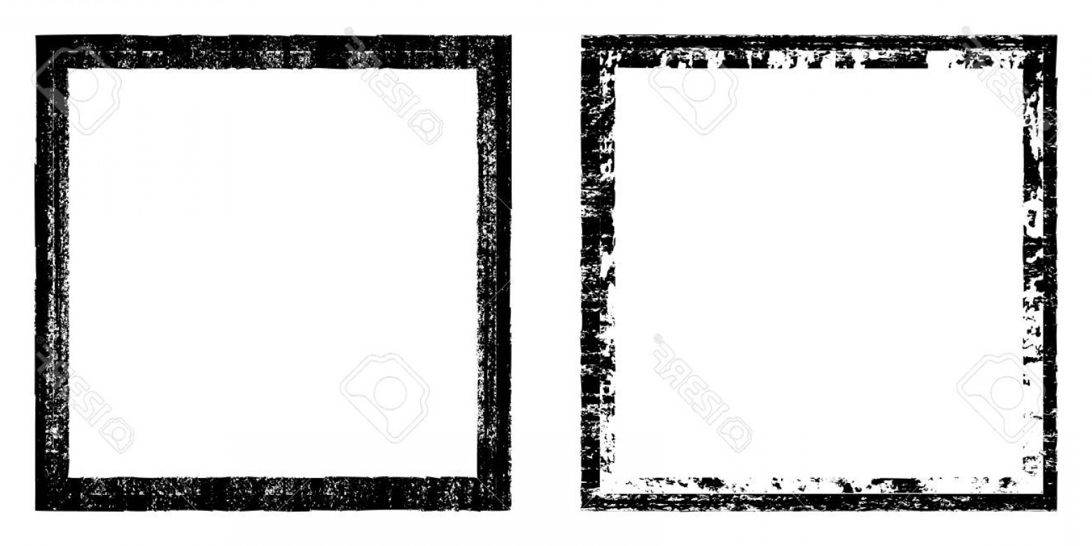 Square Black Vector Border Frame: Photostock Vector Vector Square Black Frame With Elements Distress Dirt Texture Grunge Effect Border Set