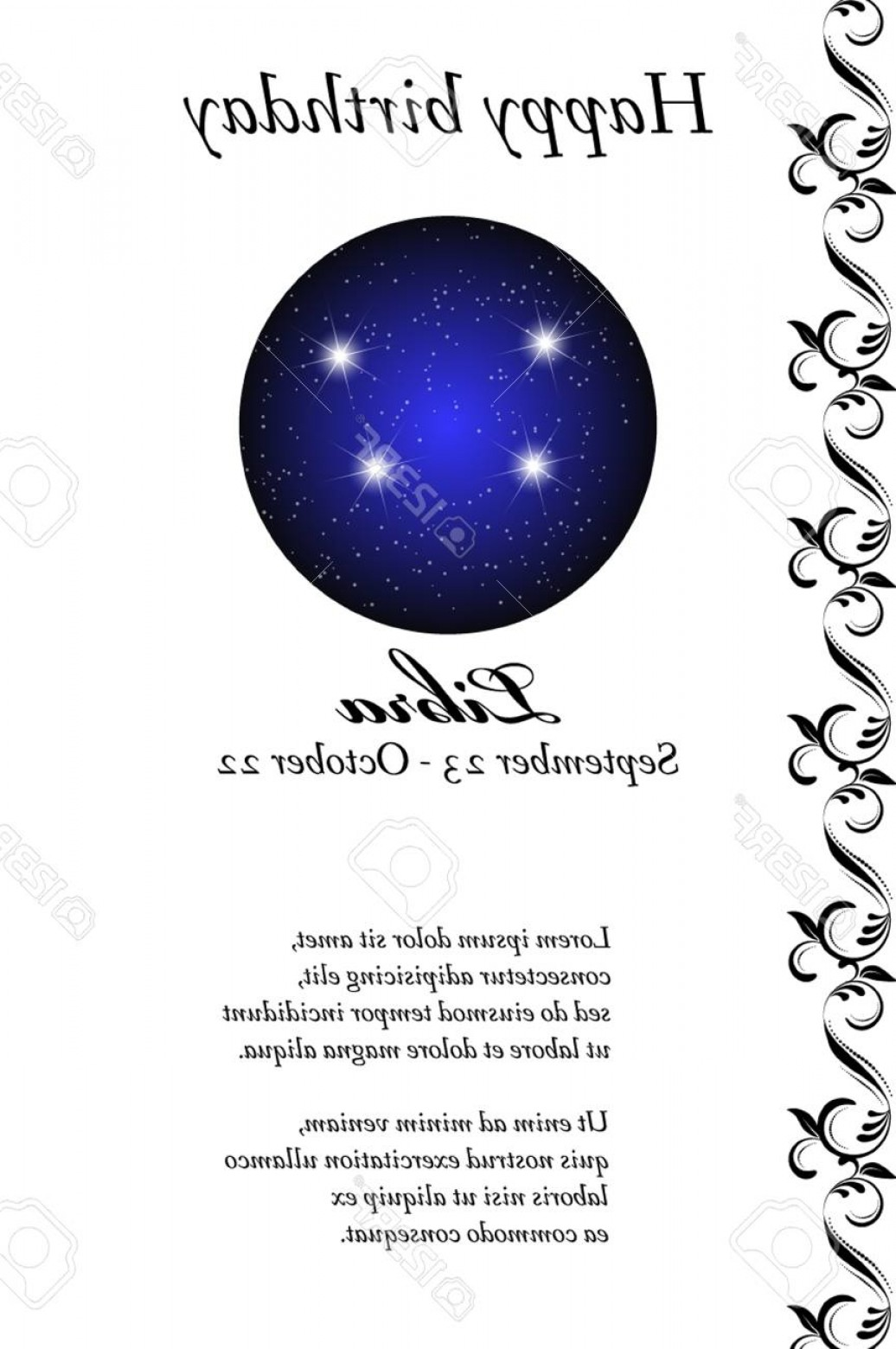 October Zodiac Constellation Vector: Photostock Vector Vector Zodiac Signs Birthday Card Astrological Horoscope Constellation Space And Stars