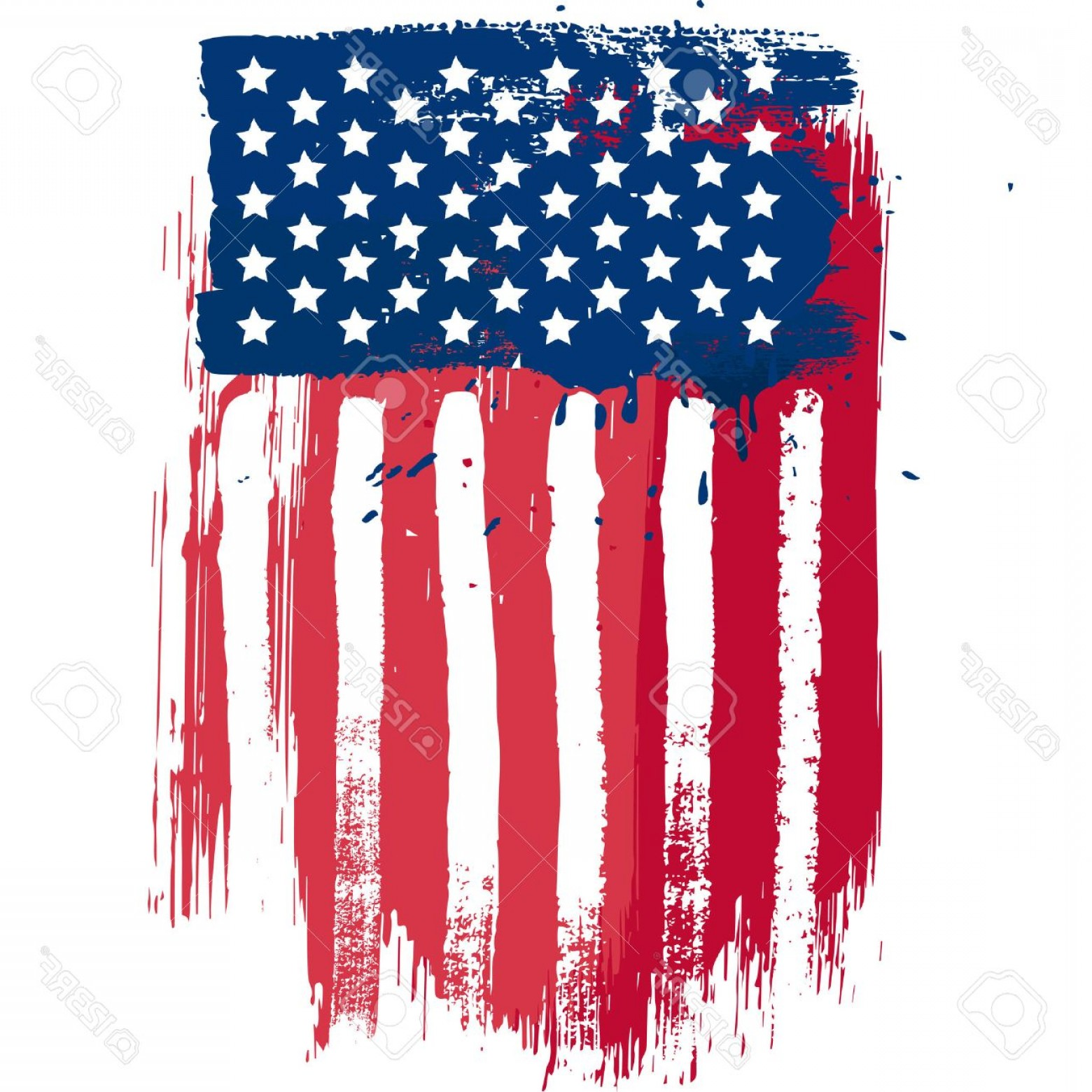 Rustic American Flag Vector: Photostock Vector Vertical Composition Vector American Flag In Grunge Style