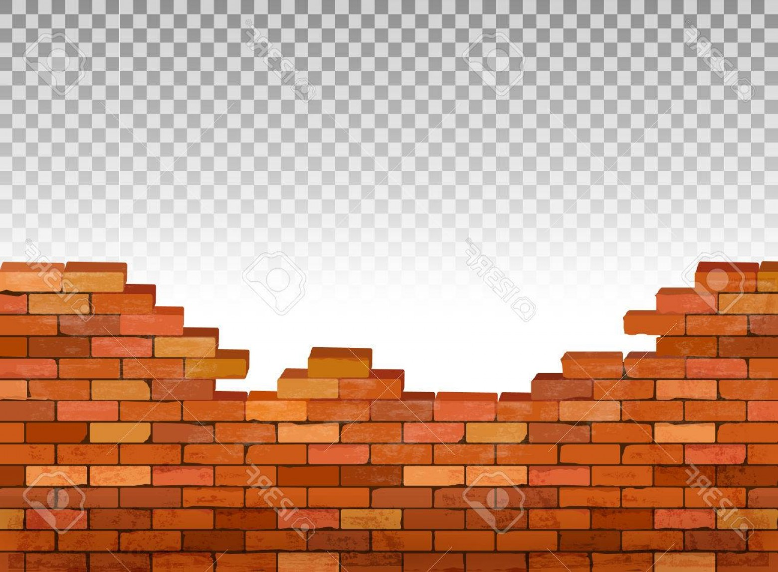 Wall Background Vector: Photostock Vector Vintage Brick Wall Background Vector