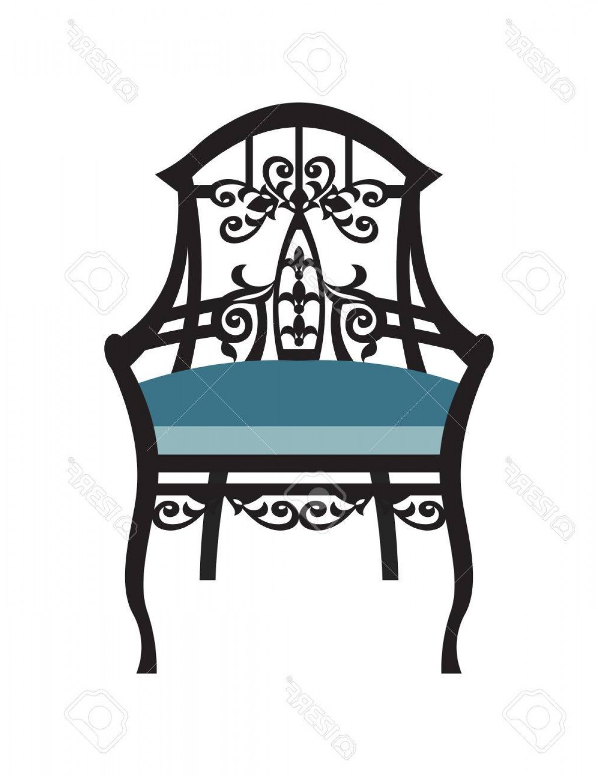 Vector Vintage Chair: Photostock Vector Vintage Chair Furniture Vector Rich Carved Ornaments Furniture Vector Victorian Exquisite Style Furn