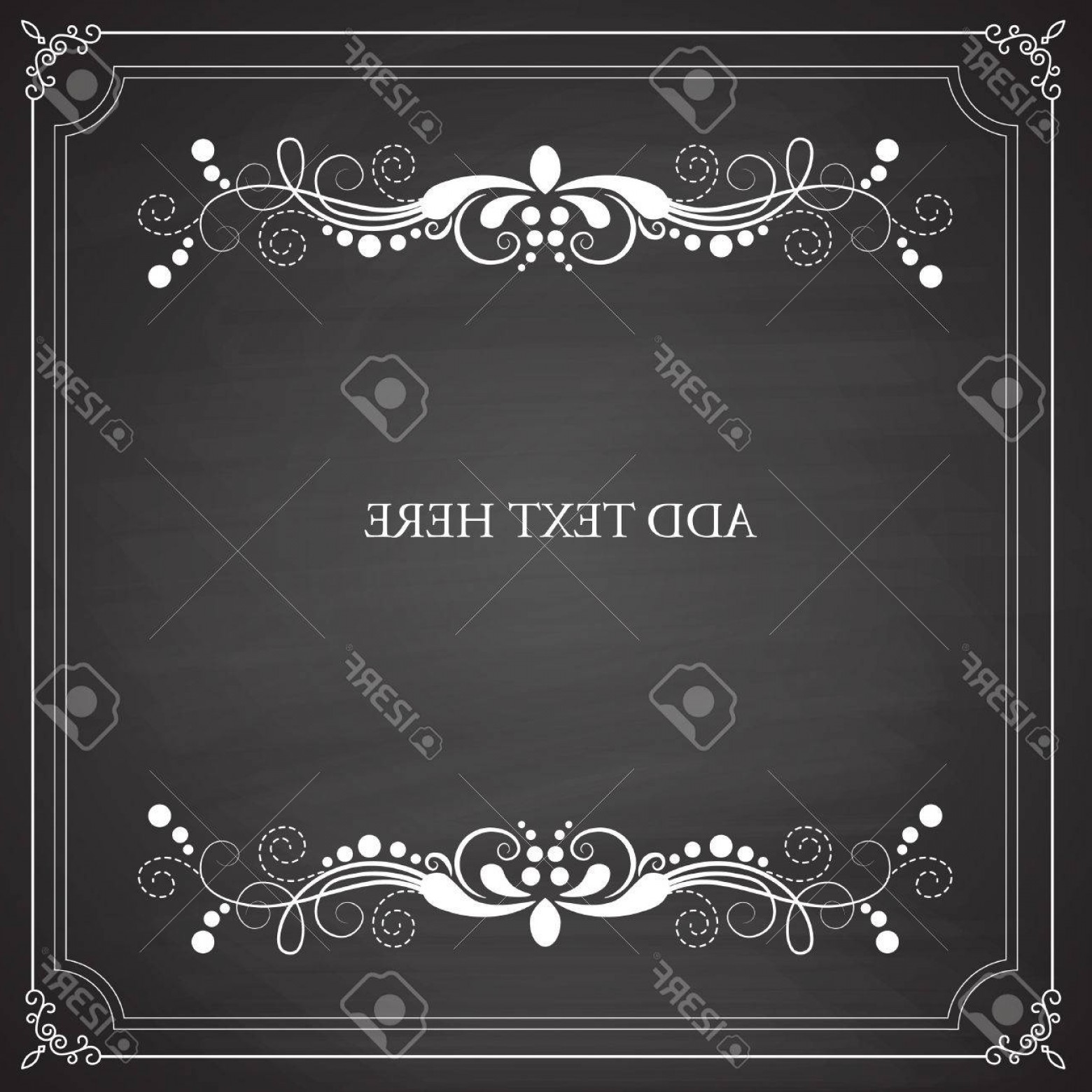 Vector Ornate Vintage Frame Blank: Photostock Vector Vintage Frames Blank Black Chalkboard Design Vector Illustration Eps