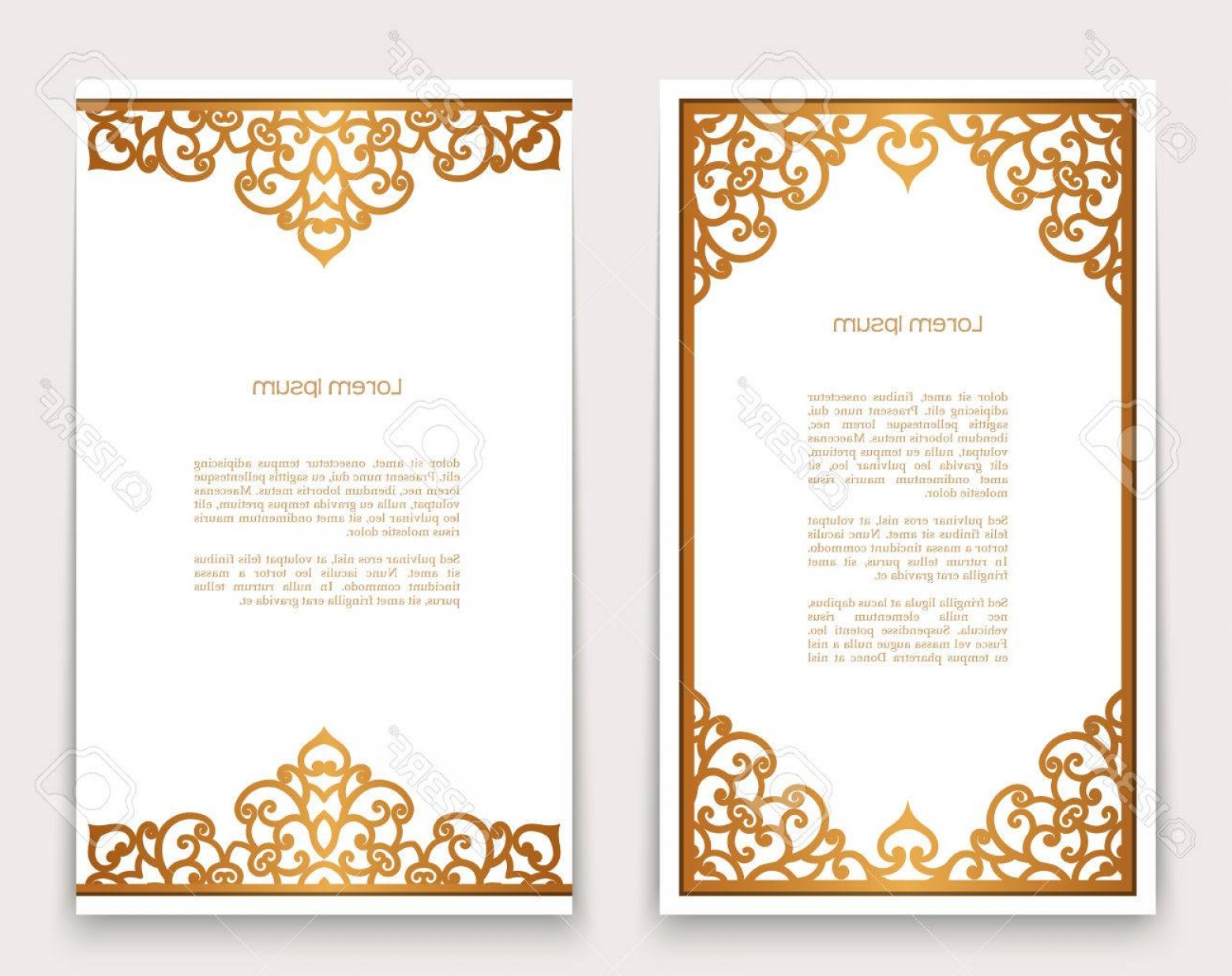 Gold Ornate Borders Vector: Photostock Vector Vintage Gold Rectangle Frames With Ornate Borders