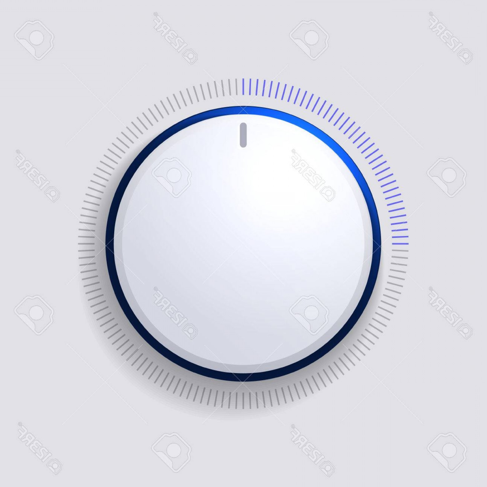 Volume Button Vector: Photostock Vector Volume Control Dial White Button Vector Illustration