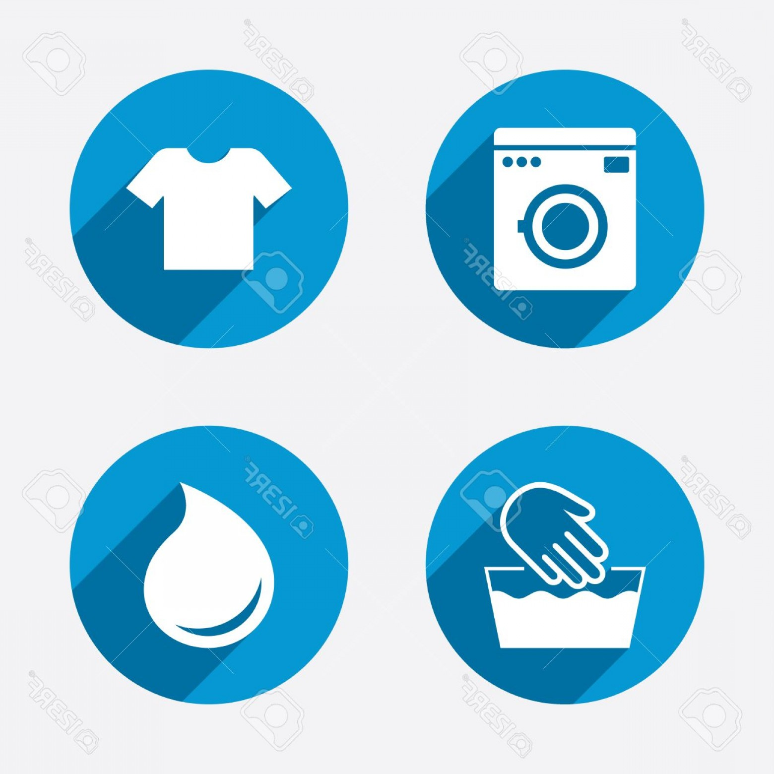 Clothes For Washing Vector: Photostock Vector Wash Machine Icon Hand Wash T Shirt Clothes Symbol Laundry Washhouse And Water Drop Signs Not Machin