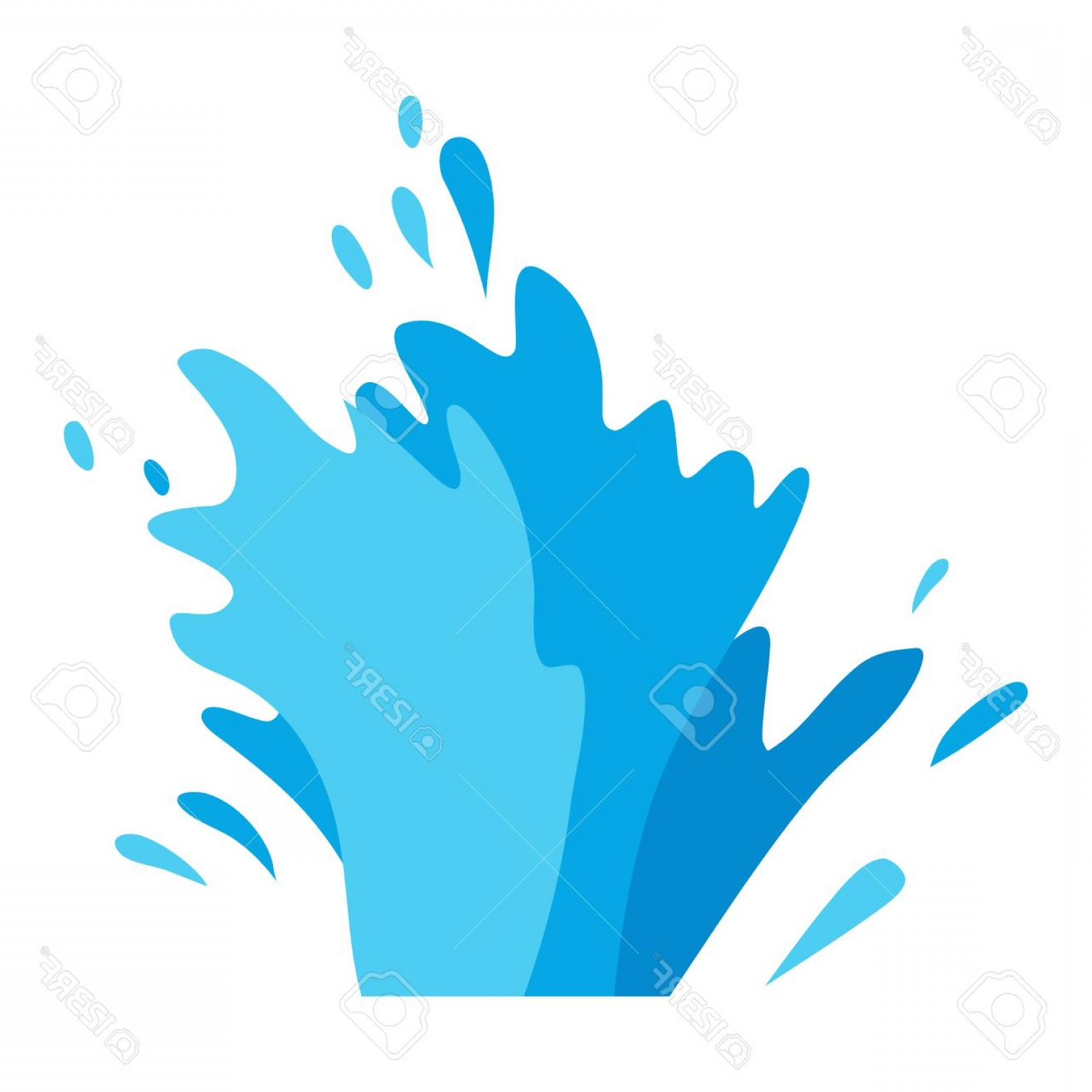 Cartoon Water Background Vector Clip Art: Photostock Vector Water Splashes Collection Vector Set Pour Drop Spa Symbol Water Splash Cartoon Vector Motion Blue Sp