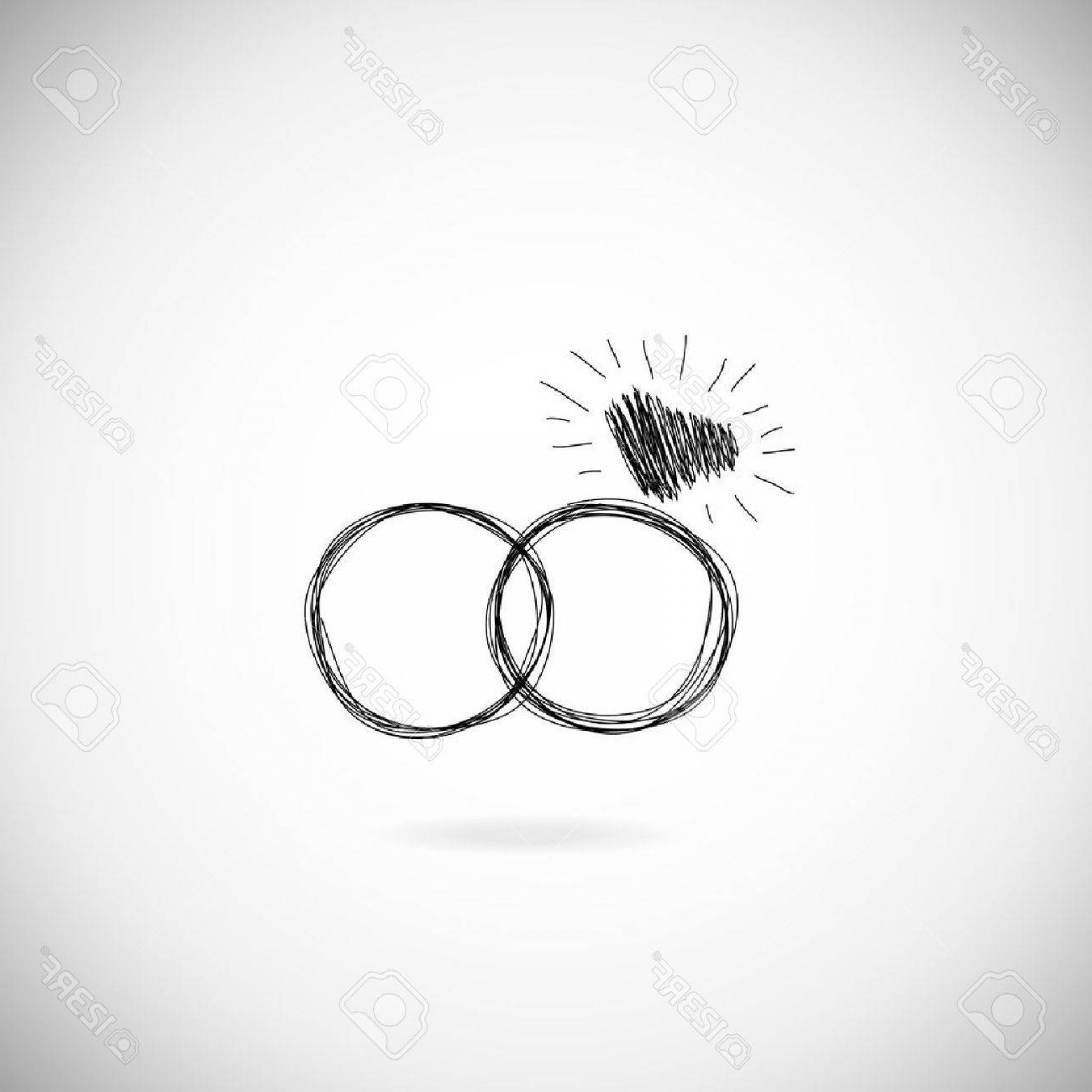 Hand With Ring Silhouette Vector: Photostock Vector Wedding Silhouette Rings Icon Wedding Invitation Jewelry Hand Drawn Illustration