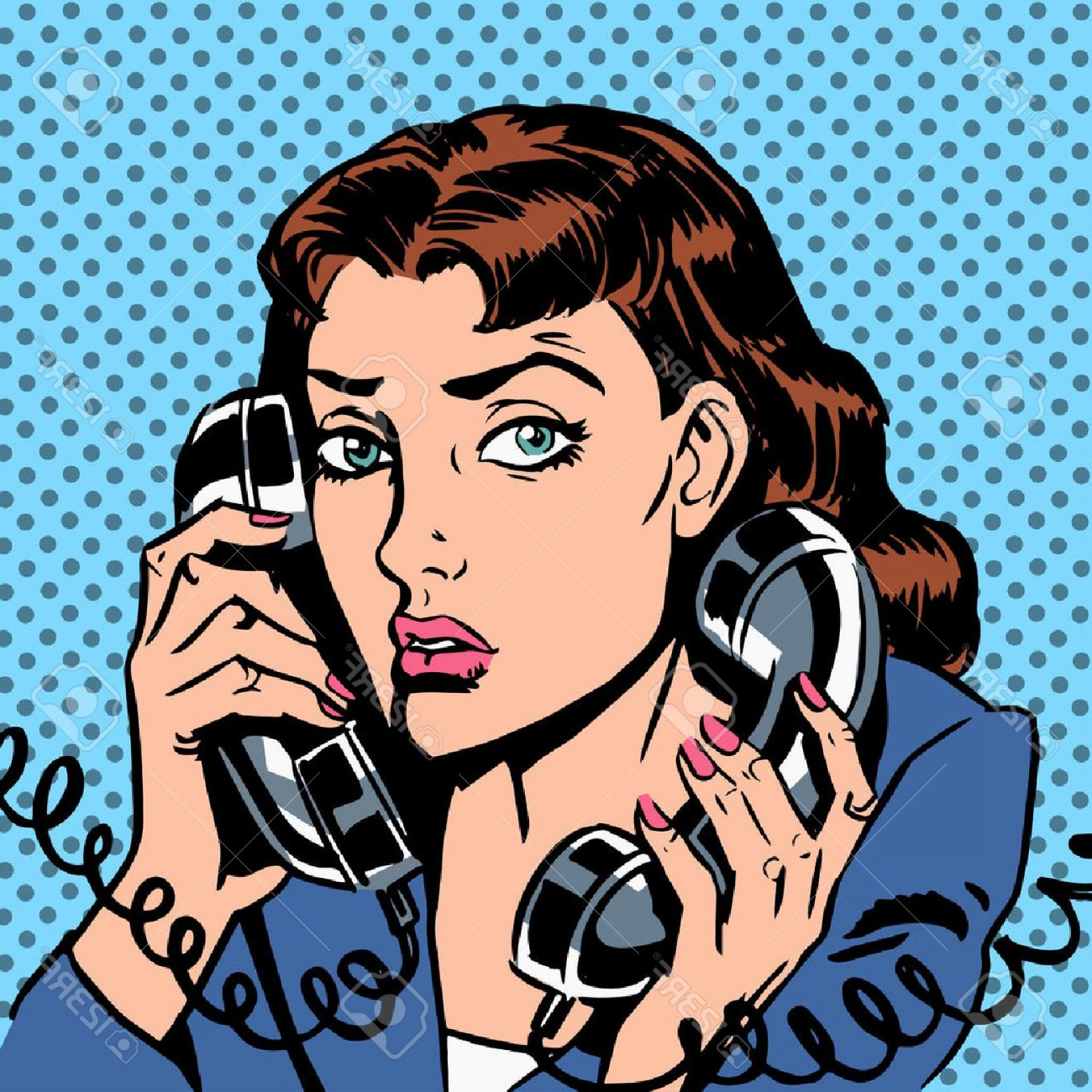 Bond Girls Vector: Photostock Vector Wednesday Girl On Two Phones Running Bond Secretary Office Manager The Manager Answers The Phone Loa