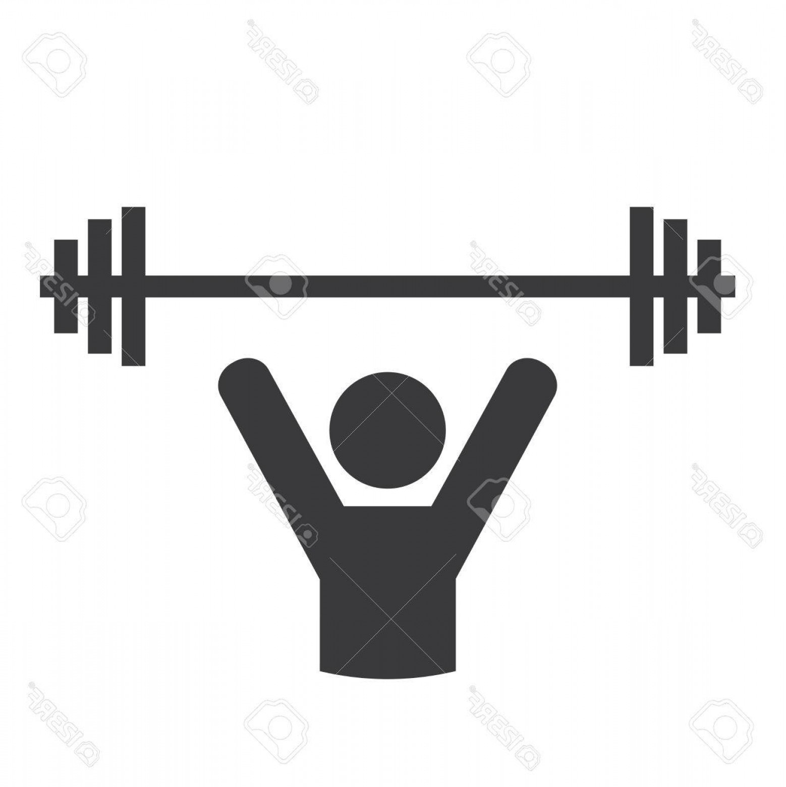 Vector Weight Lifting: Photostock Vector Weight Lifting Graphic Design Vector Illustration