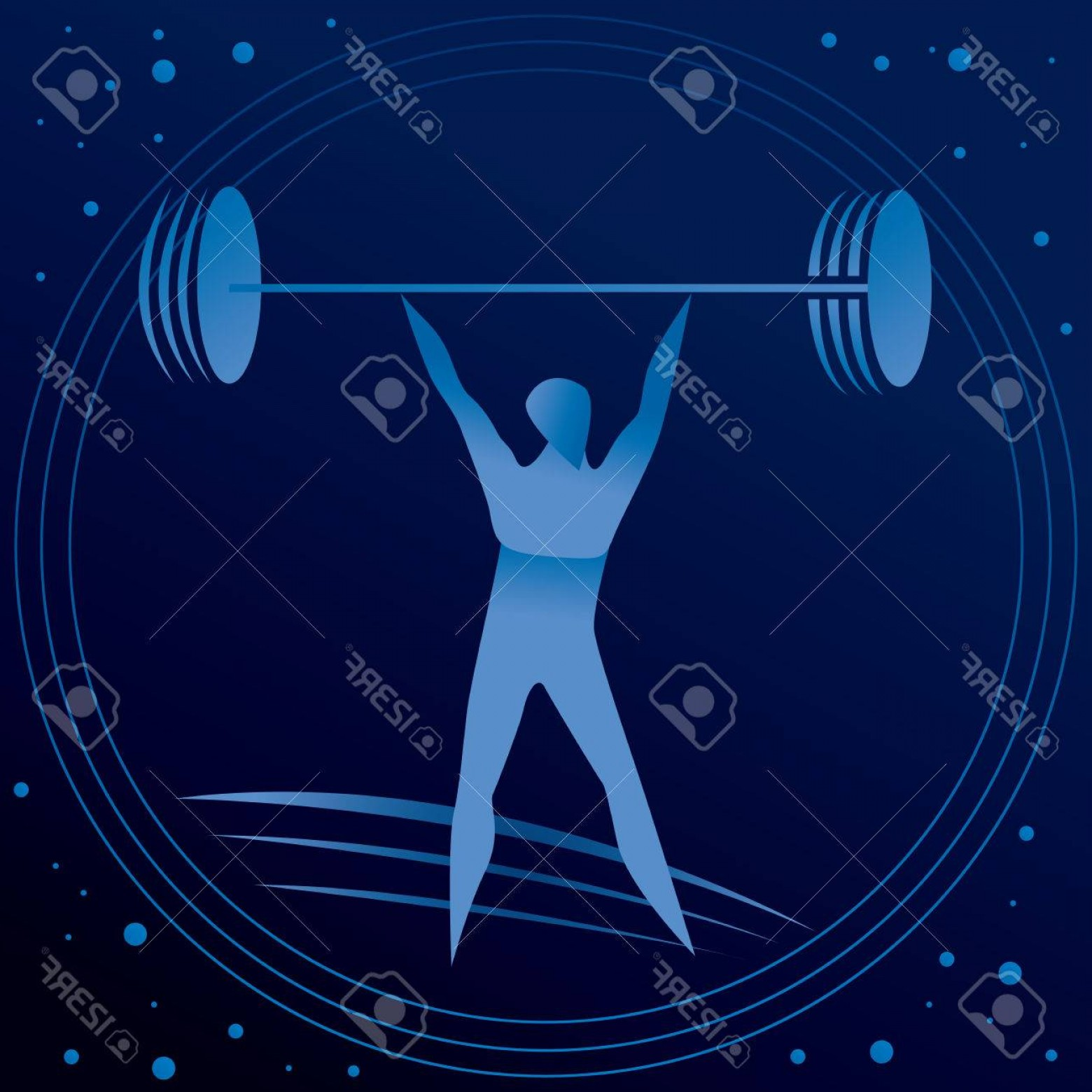 Weight Lifting Vector Graphics: Photostock Vector Weight Lifting Graphics Man Sport Vector Art