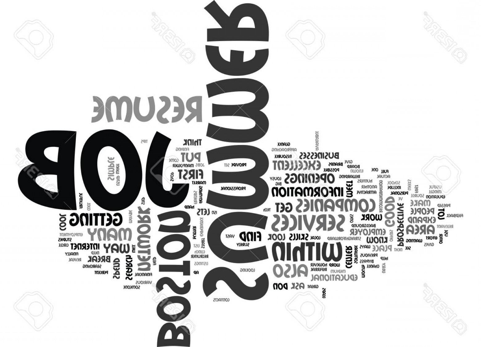 Vector Straightforward: Photostock Vector What You Need To Do To Get That Job Text Word Cloud Concept