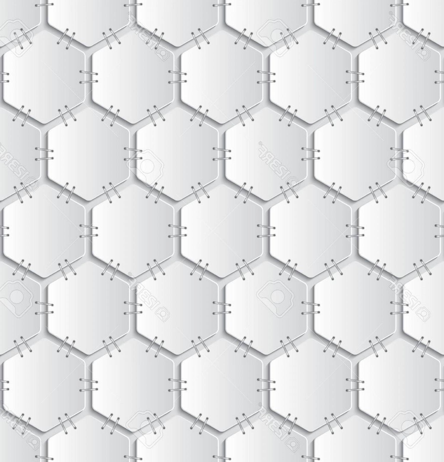 White Staples Vector Logo: Photostock Vector White Papers Attached With Staples Seamless Pattern On Light Grey Background