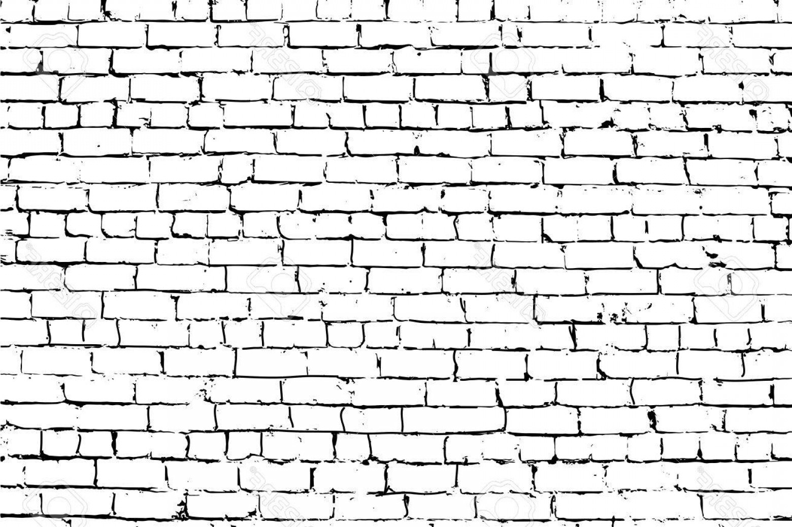 Wall Background Vector: Photostock Vector White Rust Aged Grungy Brick Wall Vector Background