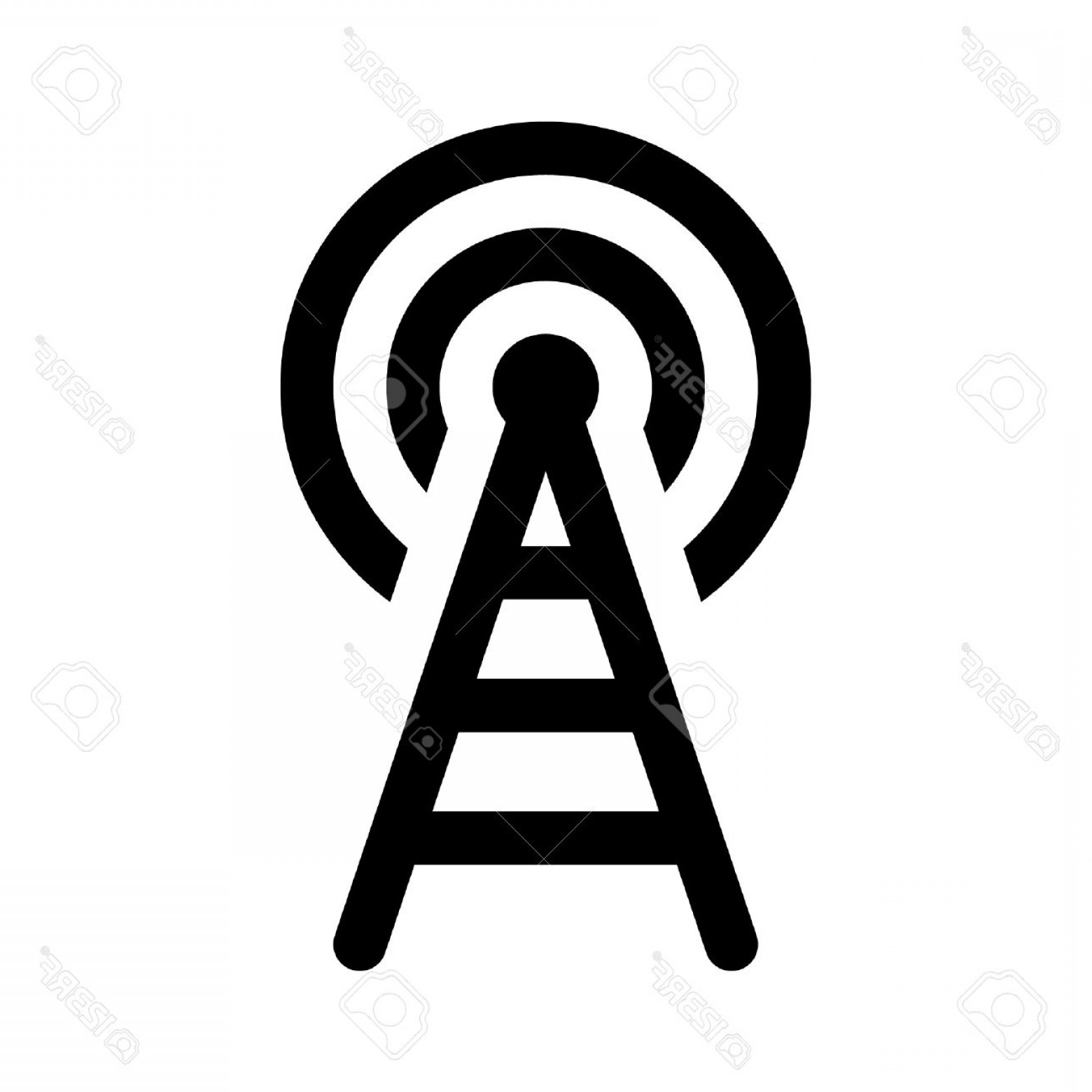 Wifi Symbol Clip Art Vector: Photostock Vector Wifi Wireless Tower Line Art Icon For Apps And Websites