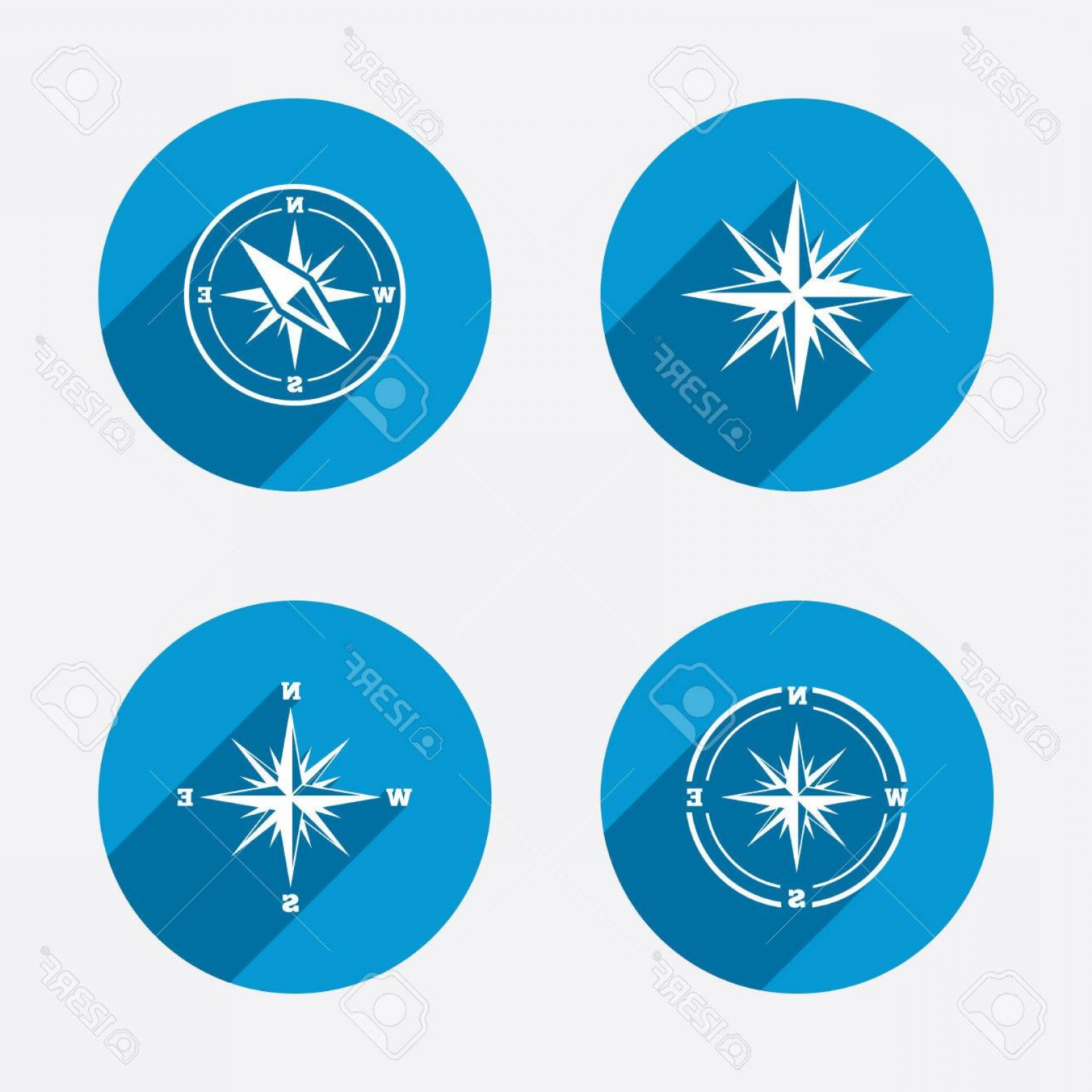 Buttons Vector Art: Photostock Vector Windrose Navigation Icons Compass Symbols Coordinate System Sign Circle Concept Web Buttons Vector