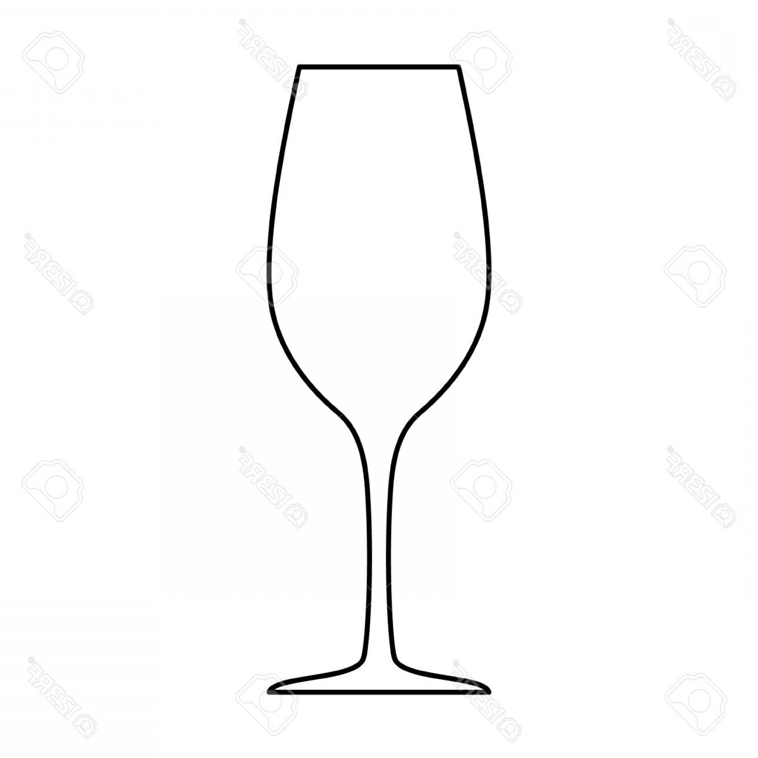 Single Wine Glass Silhouette Vector: Photostock Vector Wineglass Silhouette Isolated On White Background Vector Illustration