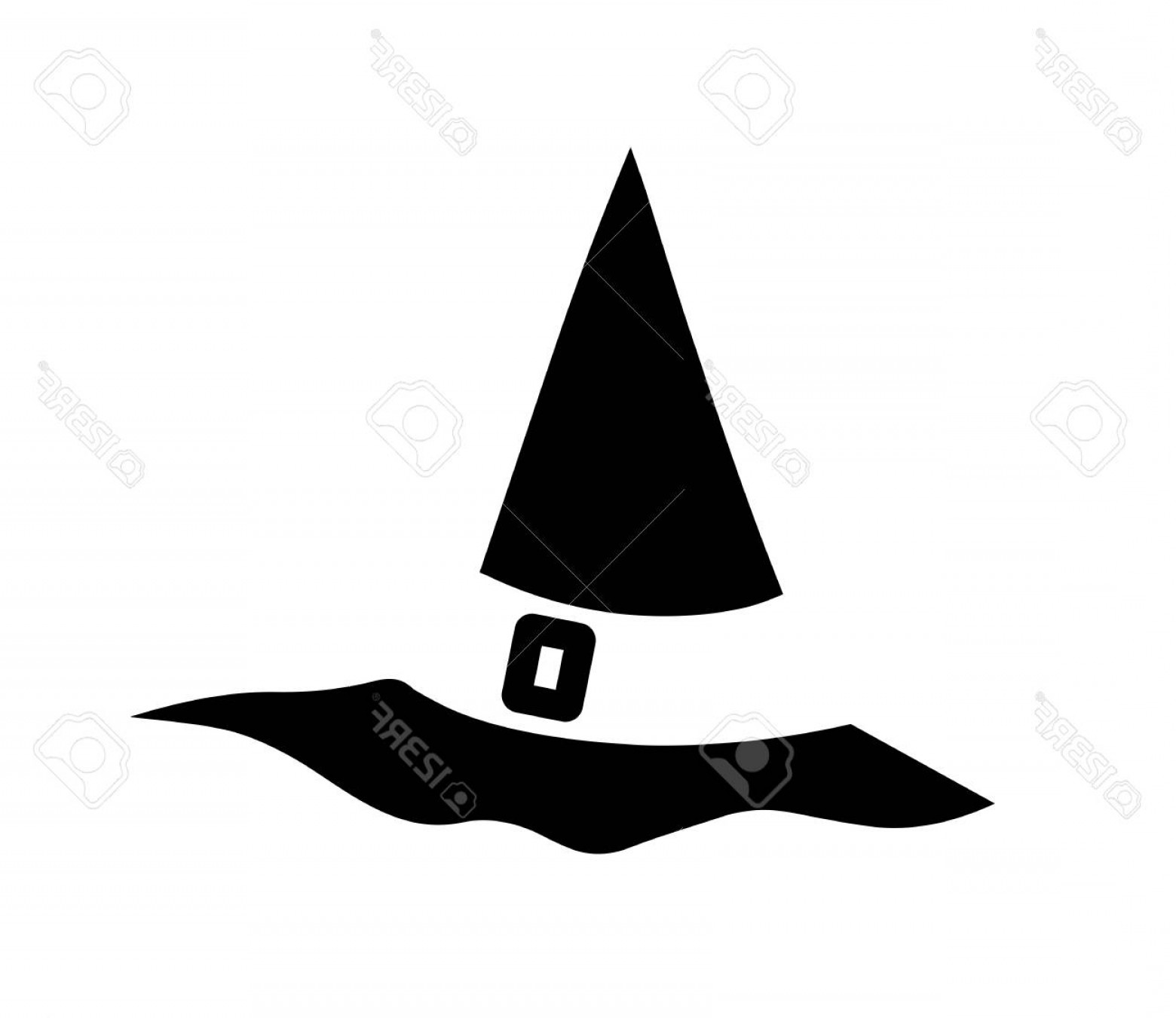 Halloween Witch Hat Vector: Photostock Vector Witch Hat For Halloween Witch Hat Vector Icon Hats With Straps And Buckles Icon For Apps And Website