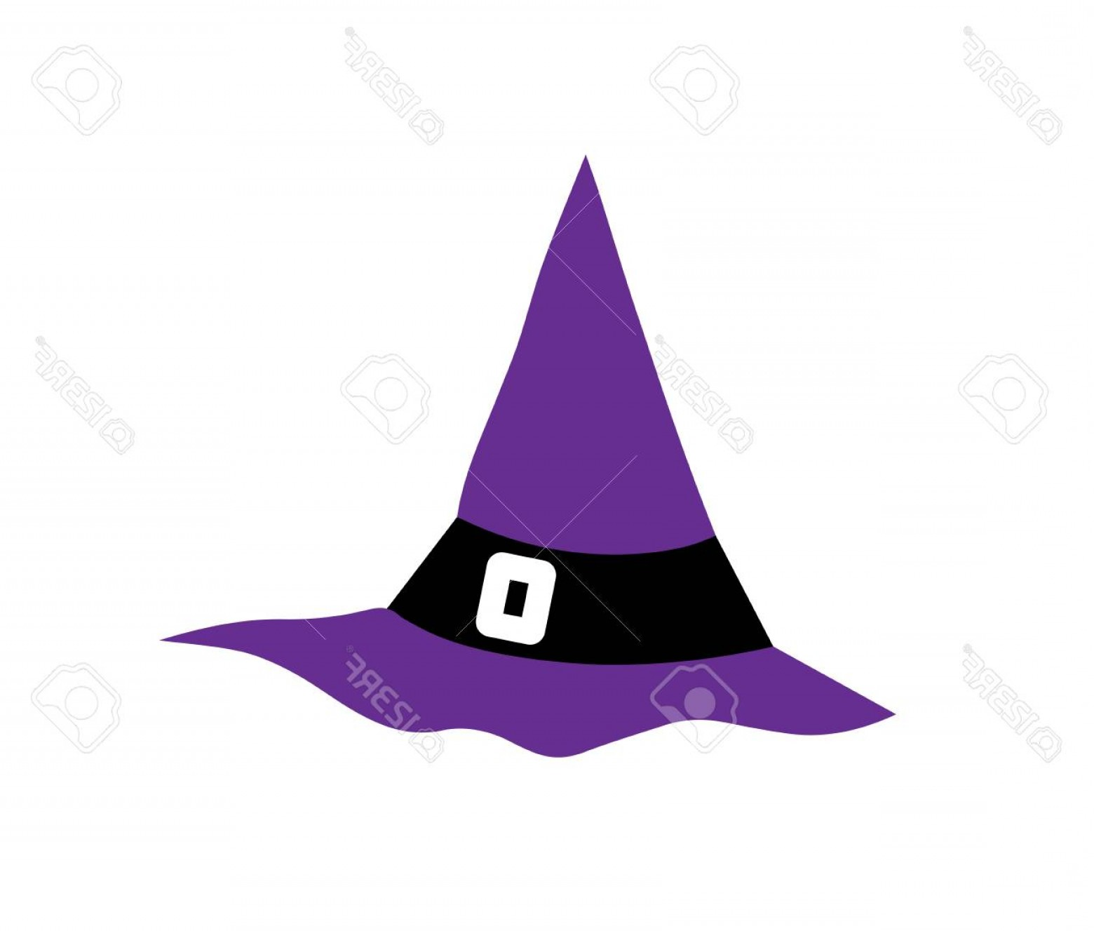 Halloween Witch Hat Vector: Photostock Vector Witch Hat For Halloween Witch Hat Vector Icon Hats With Straps And Buckles