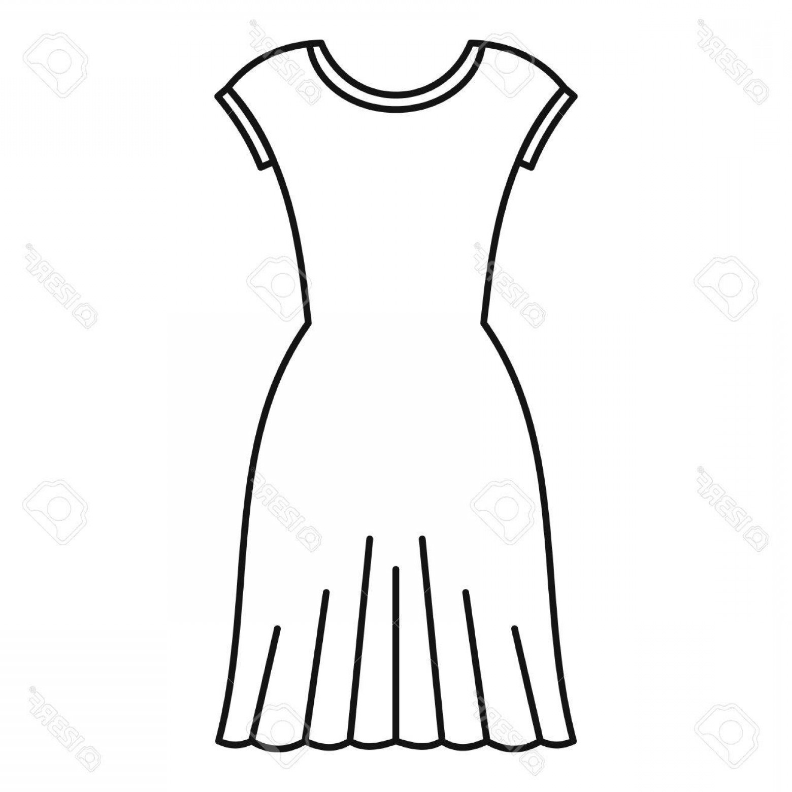 Vector Images Of Black And White Dresses: Photostock Vector Woman Dress Icon Outline Illustration Of Woman Dress Vector Icon For Web