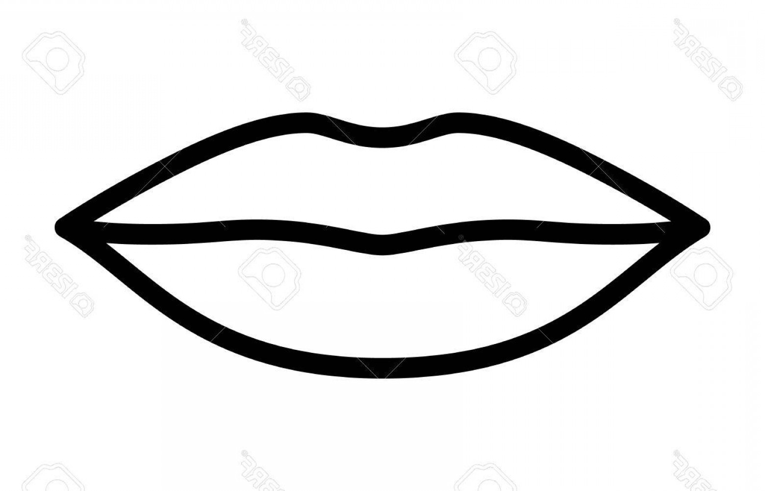 Kiss Clip Art Vector: Photostock Vector Woman S Lips For Kissing Kiss Line Art Vector Icon For Apps And Websites