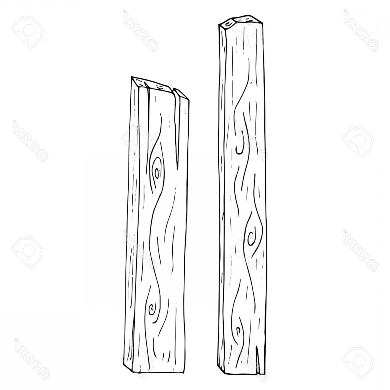 Wood Plank Vector Art: Photostock Vector Wooden Planks Vector Illustration Of Wood Planks With Wood Texture Hand Drawn Wooden Boards Planks