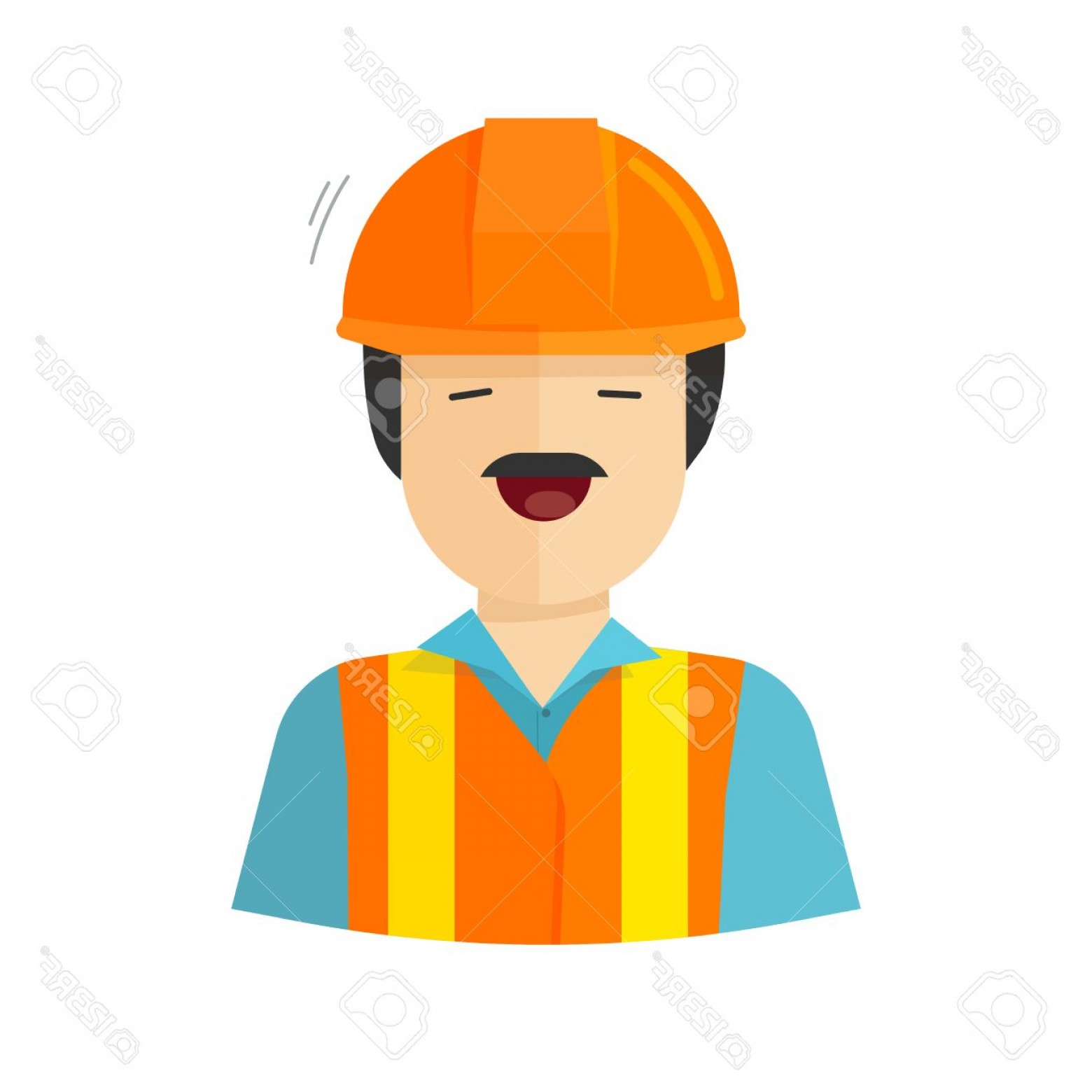 Worker Vector: Photostock Vector Worker Vector Illustration Isolated On White Background Construction Builder Character In Helmet Wor