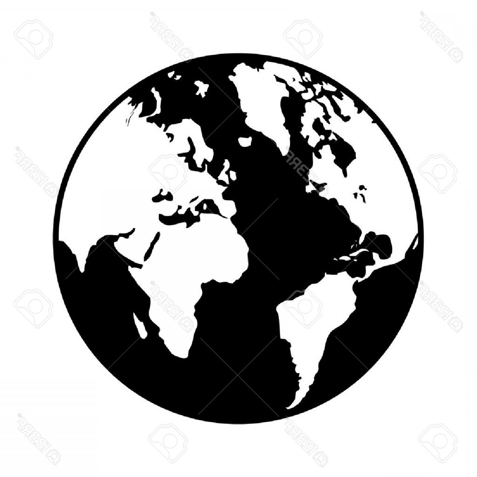 World Icon Vector Simple: Photostock Vector World Globe Map Flat Icon For Apps And Websites