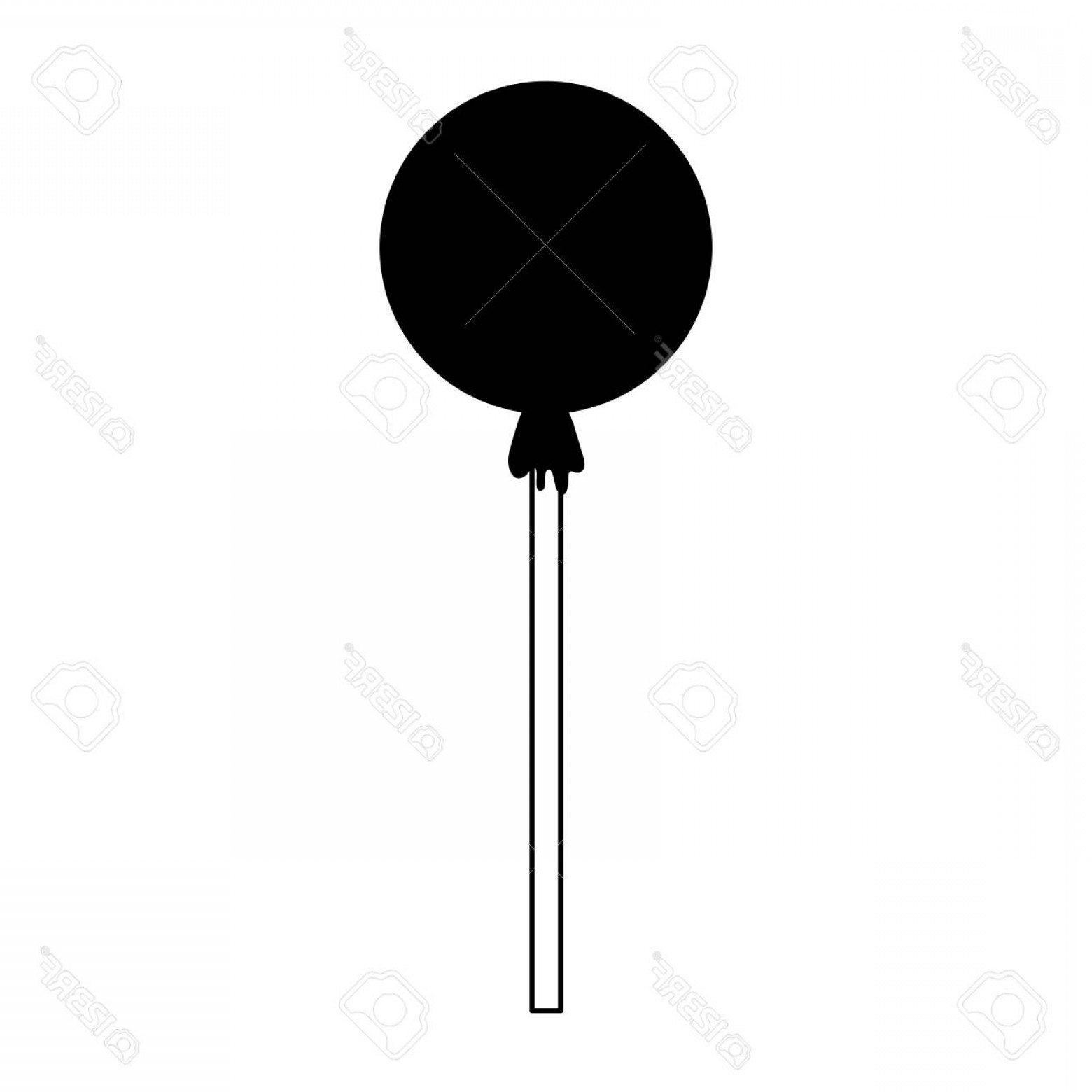 Lollipop Vector Silhouette: Photostock Vector Wrapped Lollipop Candy Icon Image Vector Illustration Design Black And White