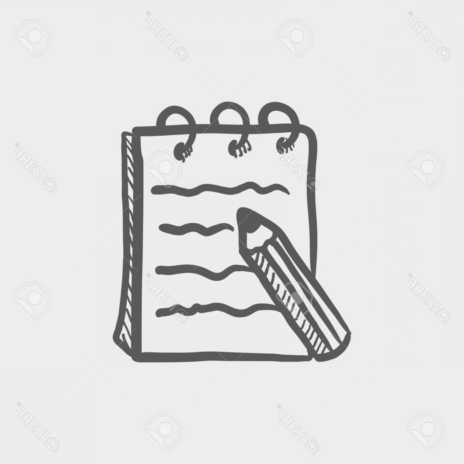 Ways To Write Vector BA: Photostock Vector Writing Pad And Pen Sketch Icon For Web And Mobile Hand Drawn Vector Dark Grey Icon On Light Grey Ba