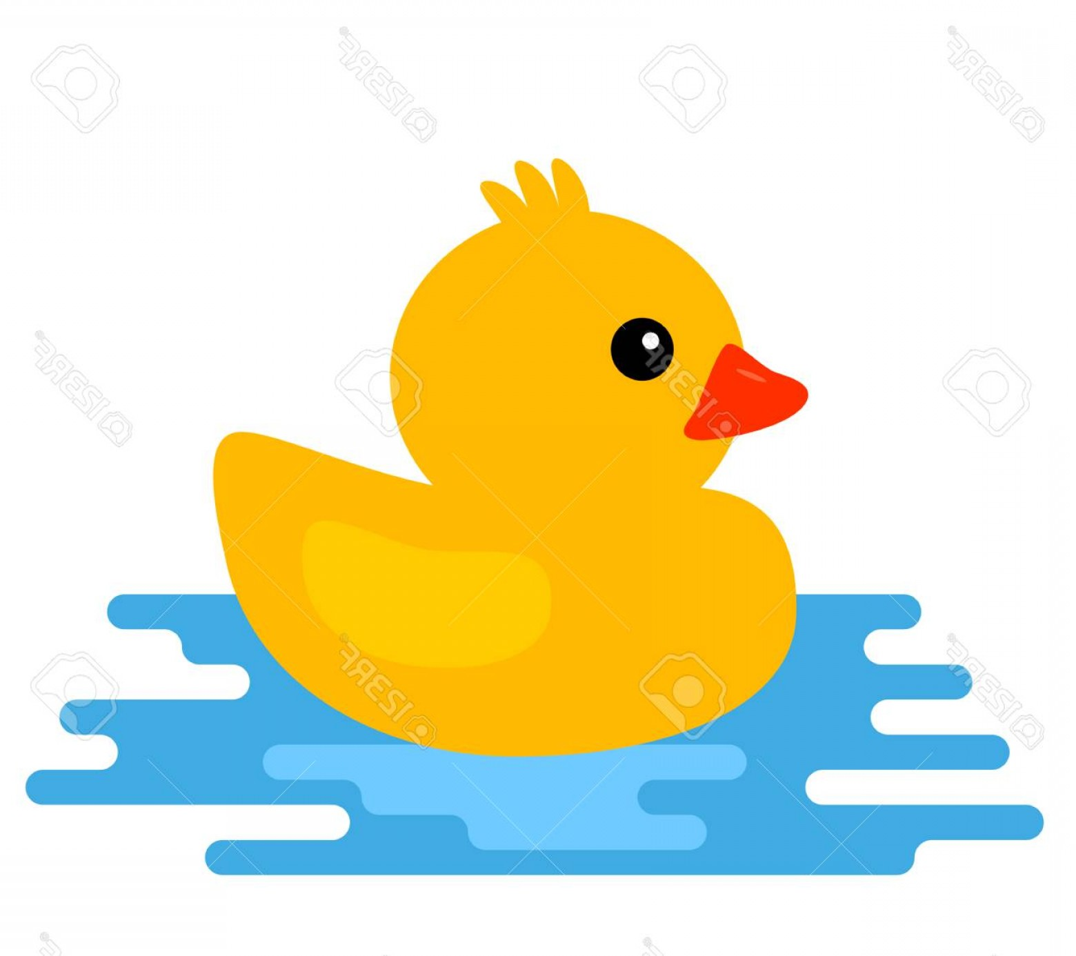 Cartoon Duck Vector: Photostock Vector Yellow Rubber Duck Vector Illustration Of Cartoon Style Isolated On White Background