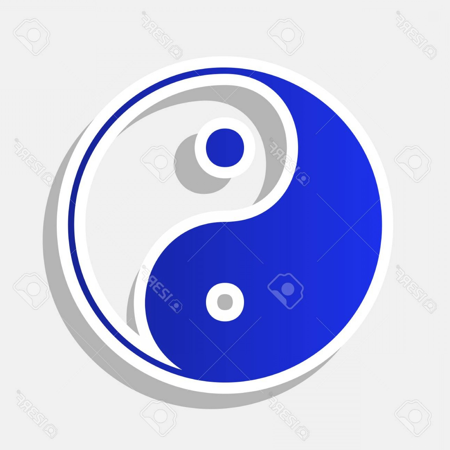 New Balance Vector: Photostock Vector Ying Yang Symbol Of Harmony And Balance Vector New Year Bluish Icon With Outside Stroke And Gray Sha